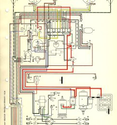 thesamba com type 1 wiring diagrams 1973 vw beetle wiring diagram standard 1973 vw beetle wiring diagram [ 1144 x 1692 Pixel ]
