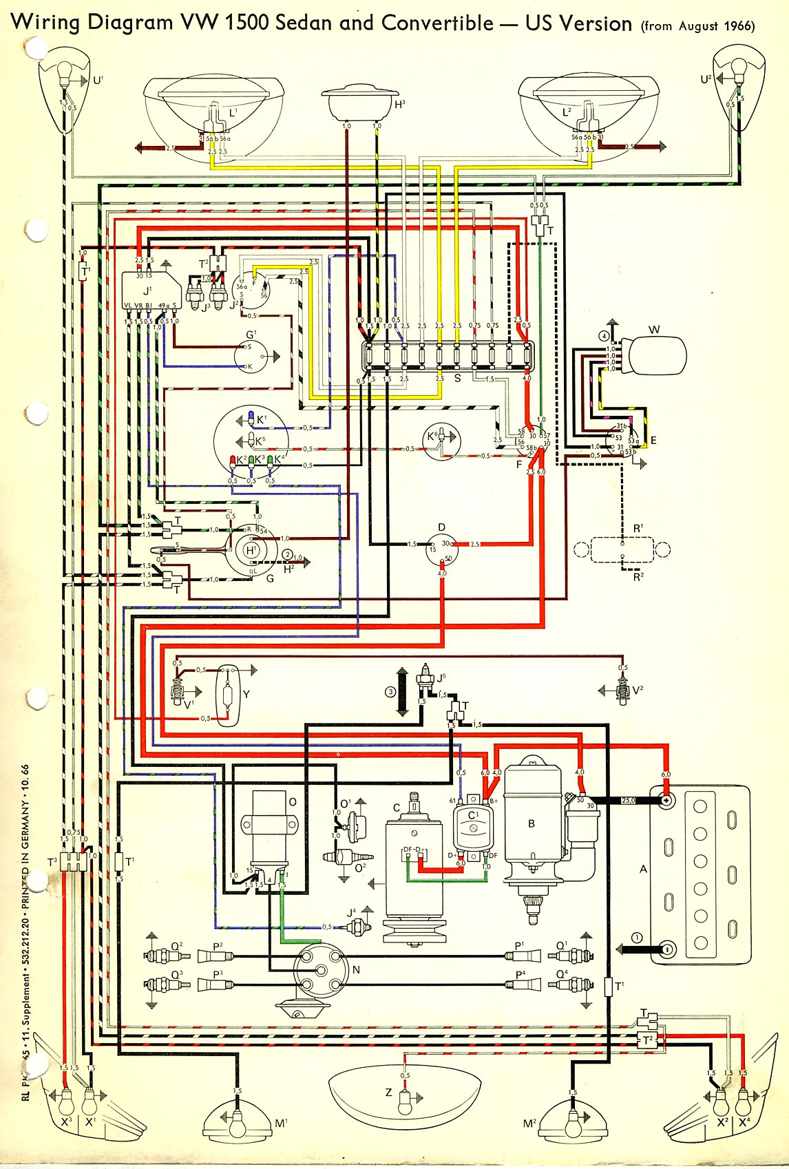 bosch internal regulator alternator wiring diagram dewalt chop saw parts 1971 vw data thesamba com type 1 diagrams 71 super beetle