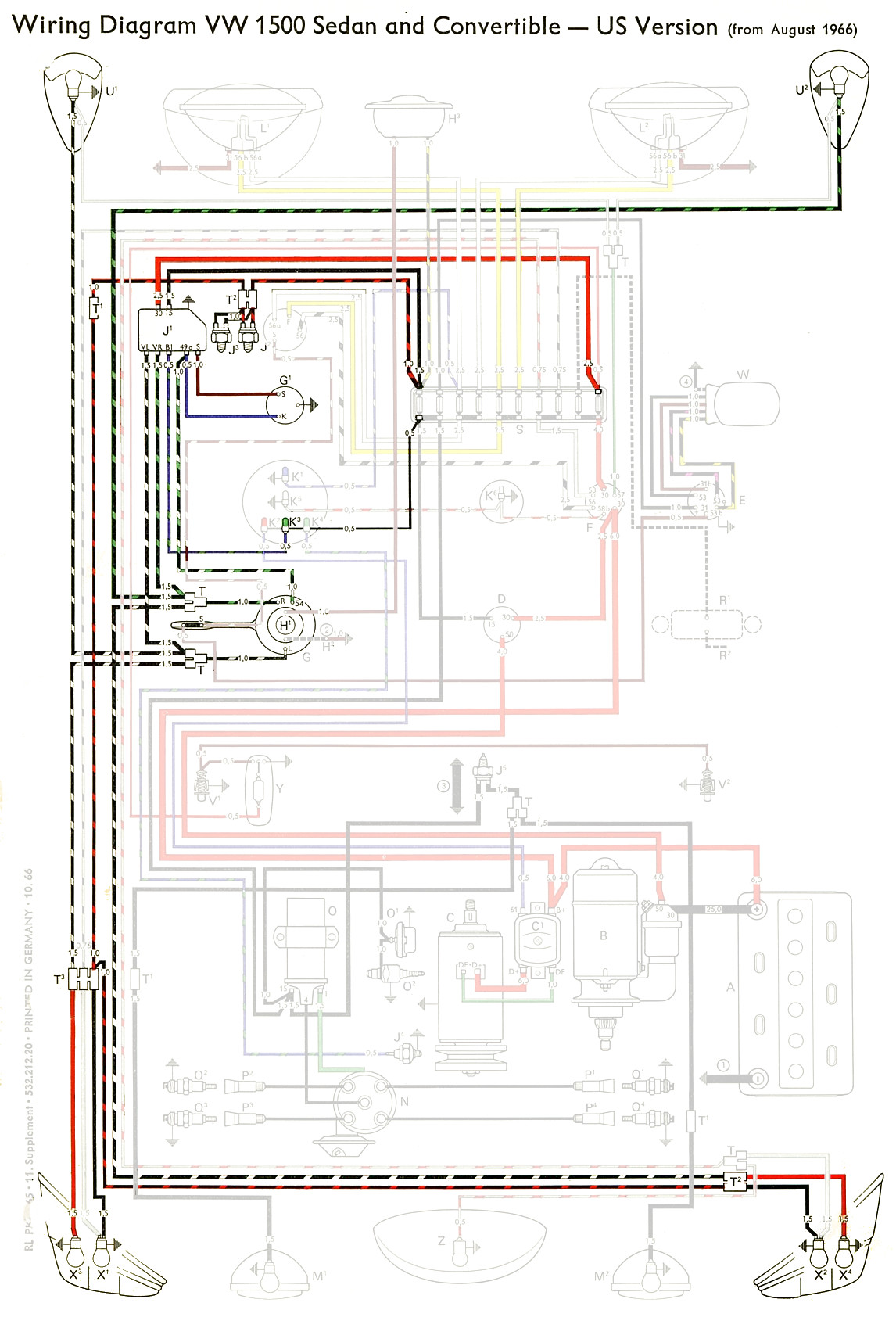 1968 vw type 1 wiring diagram gmc trailer plug thesamba diagrams