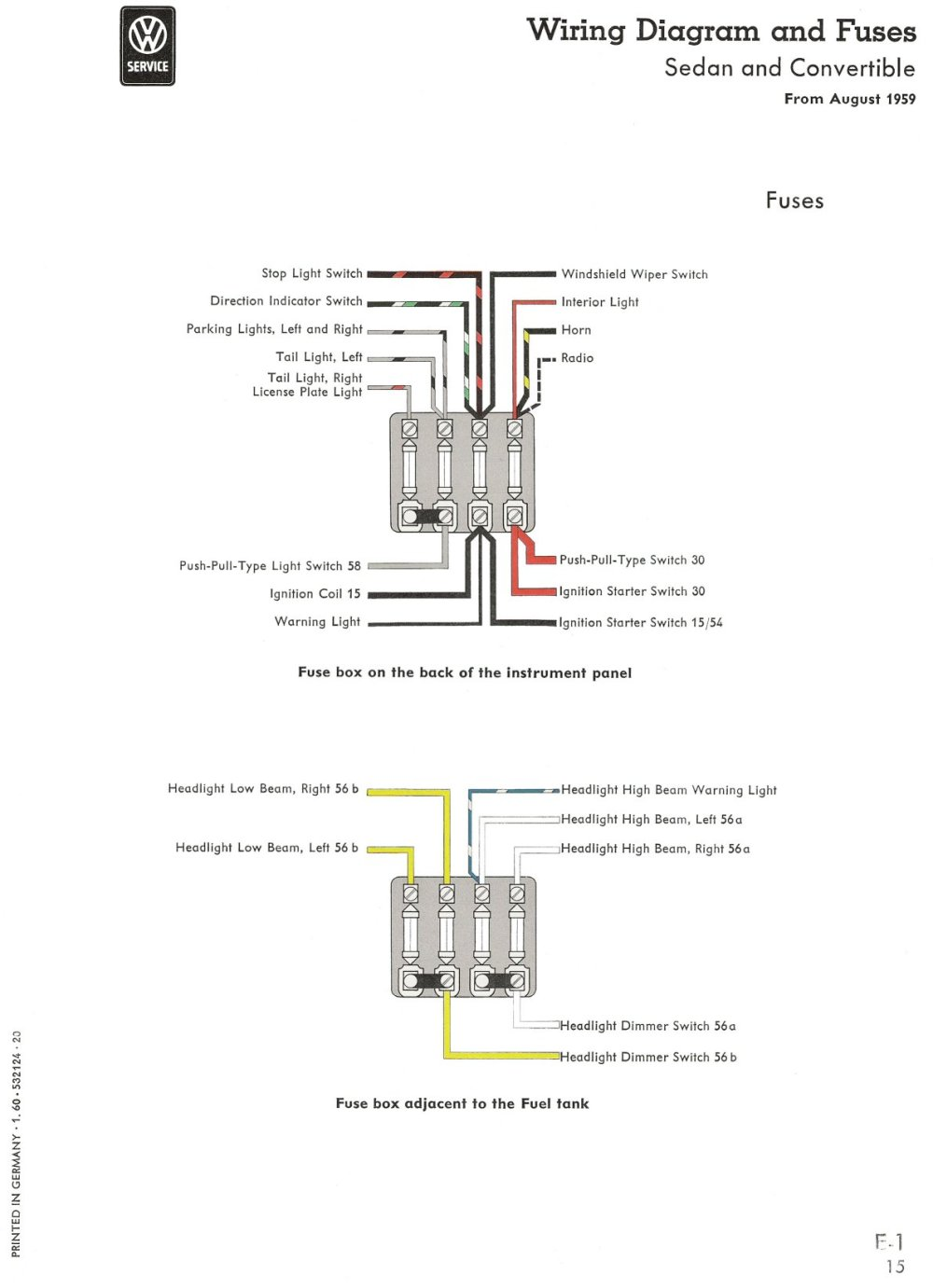 medium resolution of 1960 non usa diagram key fuses