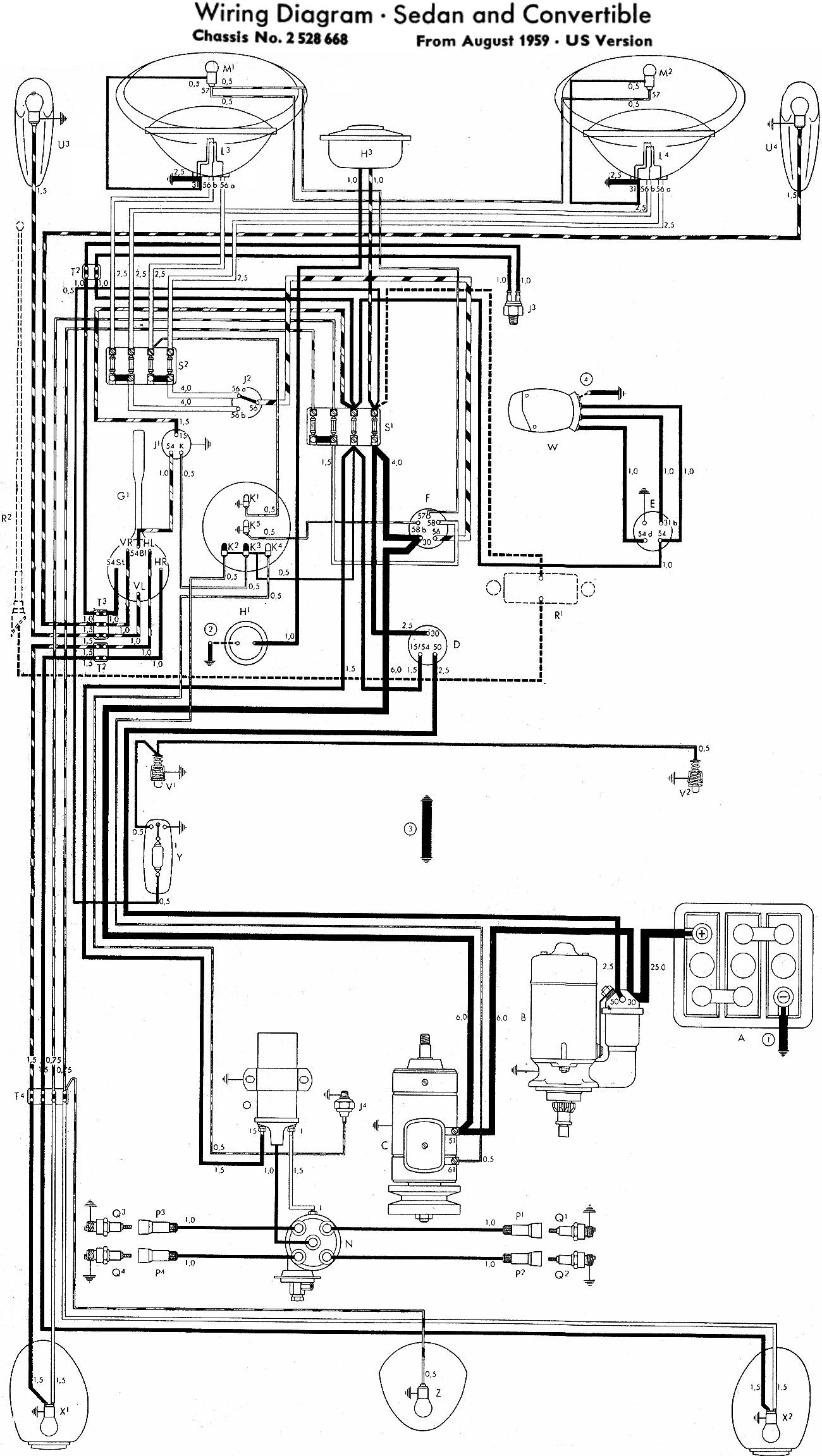 1958 vw beetle wiring diagram