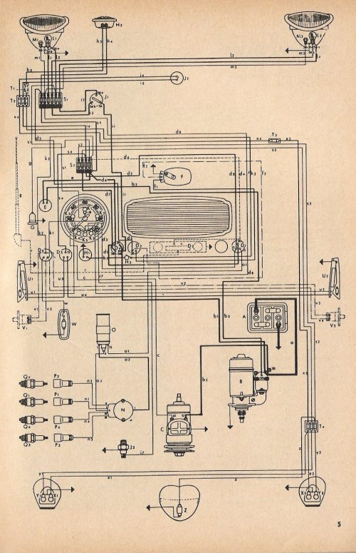 small resolution of thesamba com type 1 wiring diagrams 1968 vw beetle wiring diagram charging system