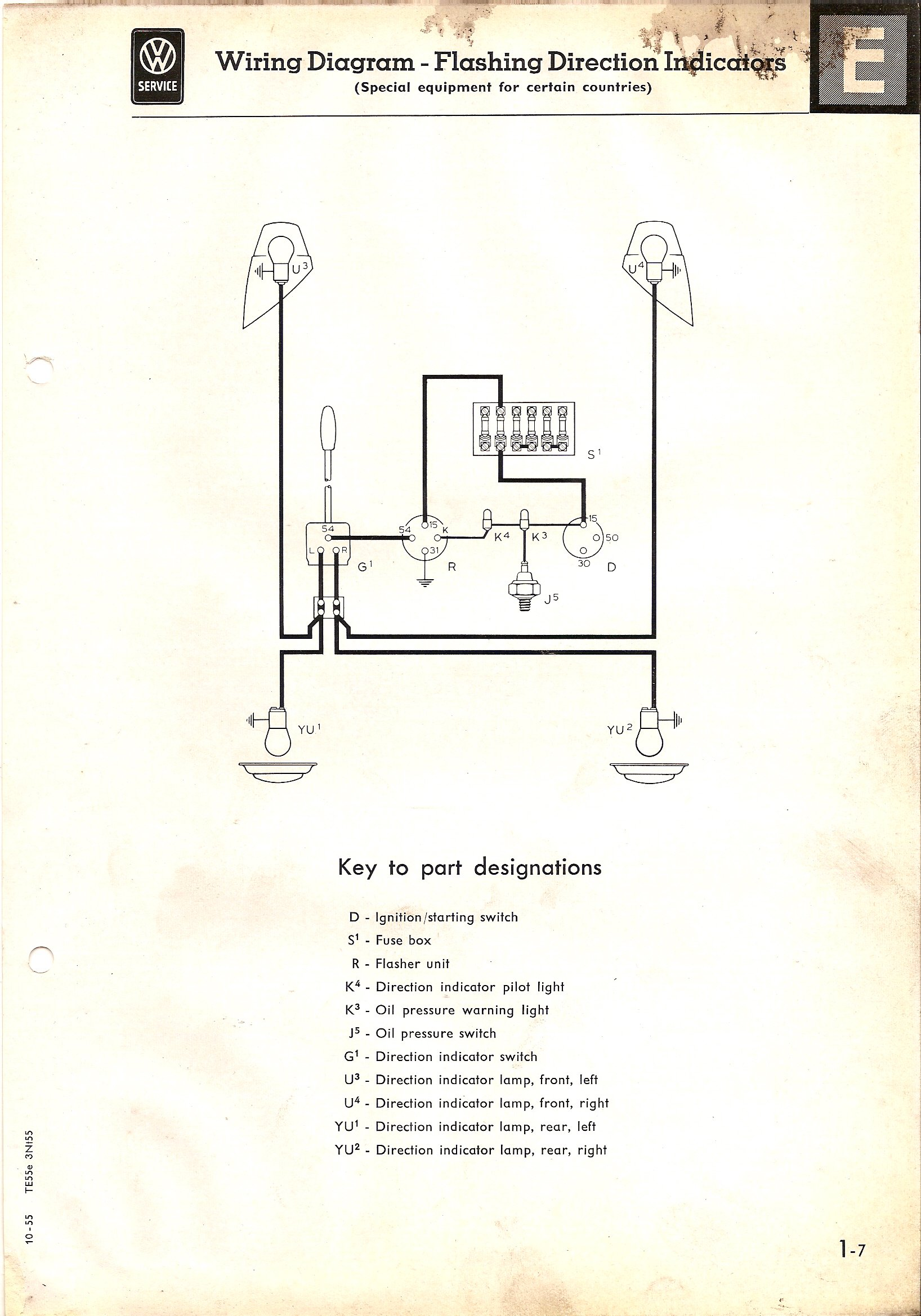 1966 corvette turn signal wiring diagram for 13 pin trailer plug thesamba com type 2 diagrams