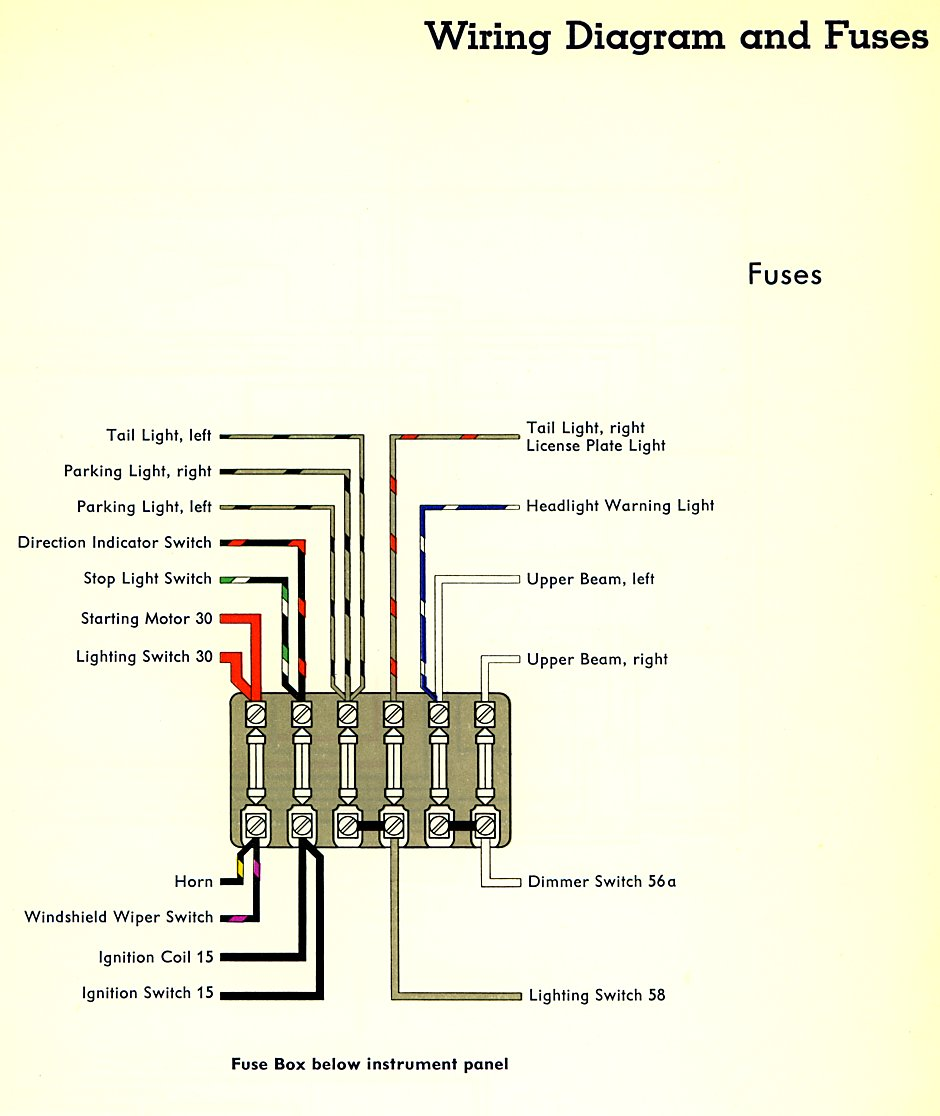 1978 vw bus wiring diagram 98 integra alarm fuse box thesamba com type 2 diagrams