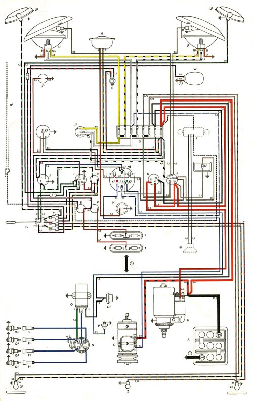 small resolution of thesamba com type 2 wiring diagrams 1976 vw type 2 wiring altinator diagram