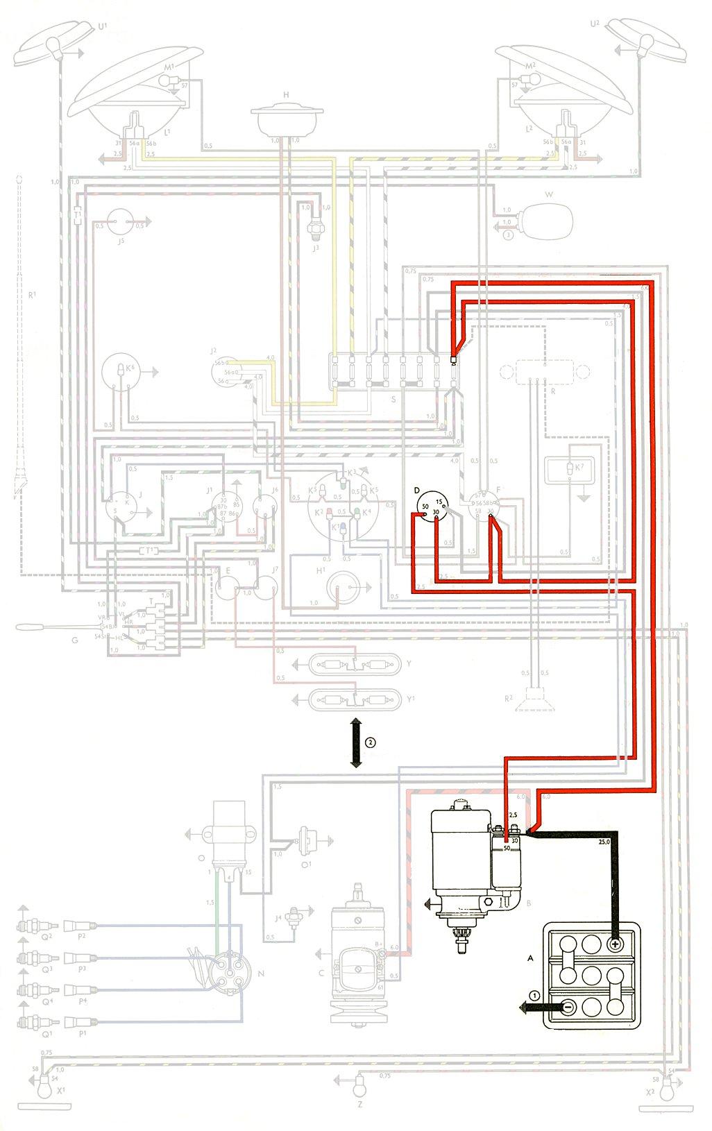 1970 vw type 2 wiring diagram elbow anatomy thesamba diagrams
