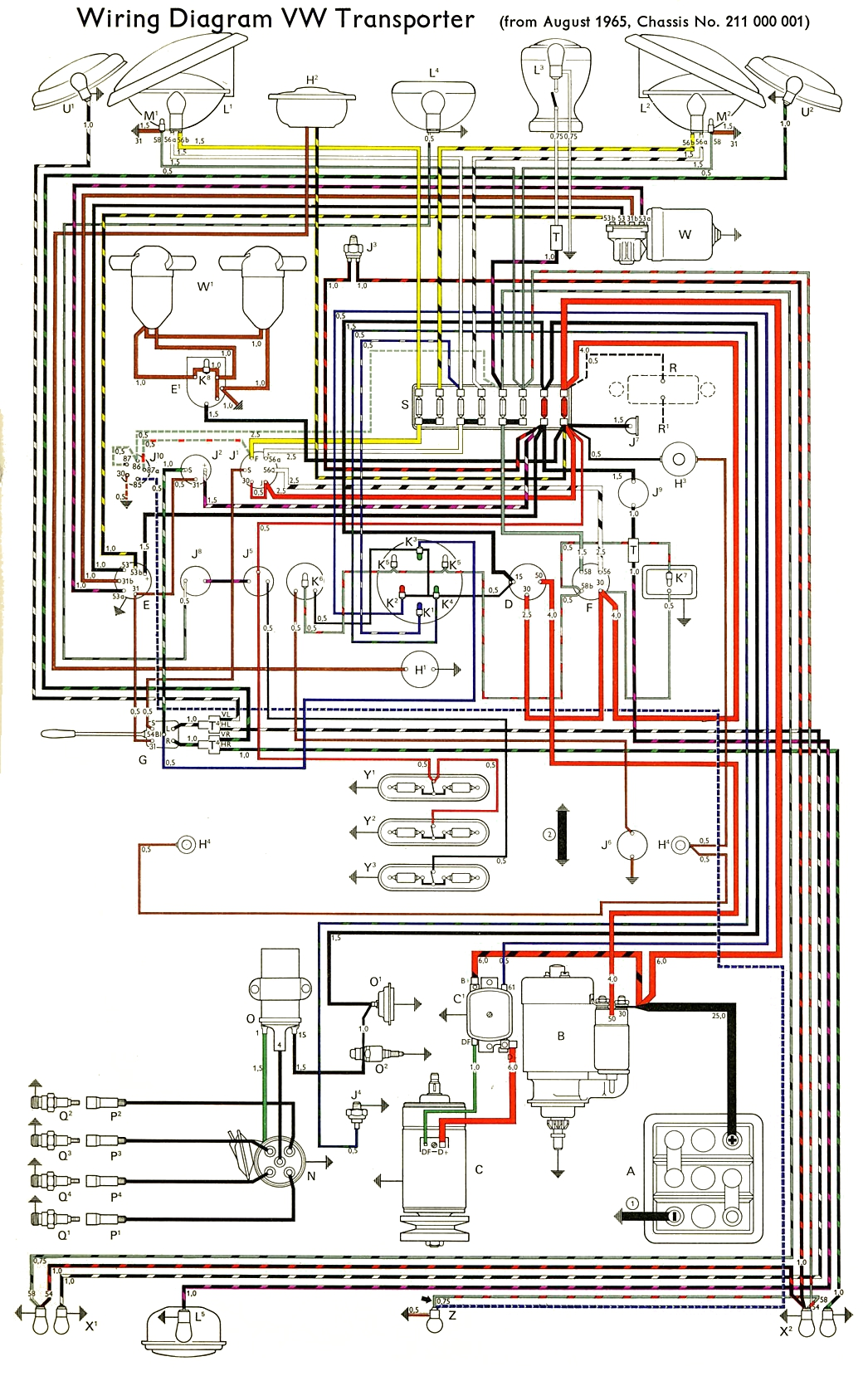 hight resolution of thesamba com type 2 wiring diagrams rh thesamba com 69 vw wiring diagram 56 vw bug