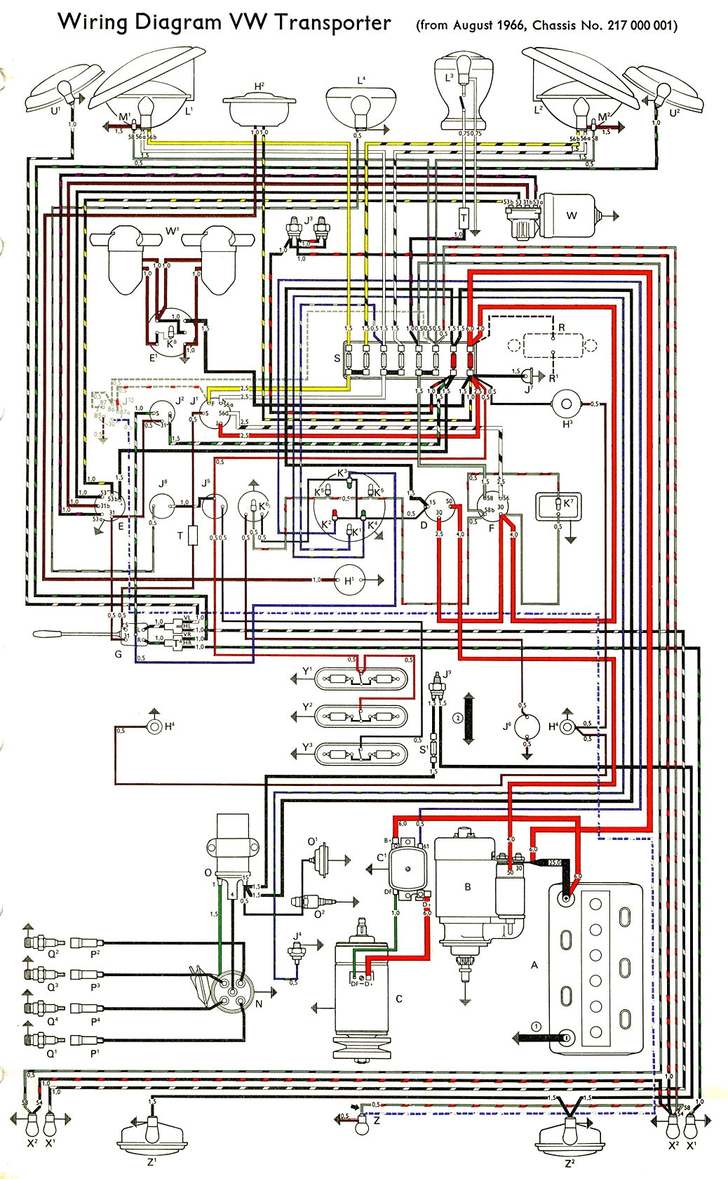 hight resolution of thesamba com type 2 wiring diagrams 1960 vw bus fuse box