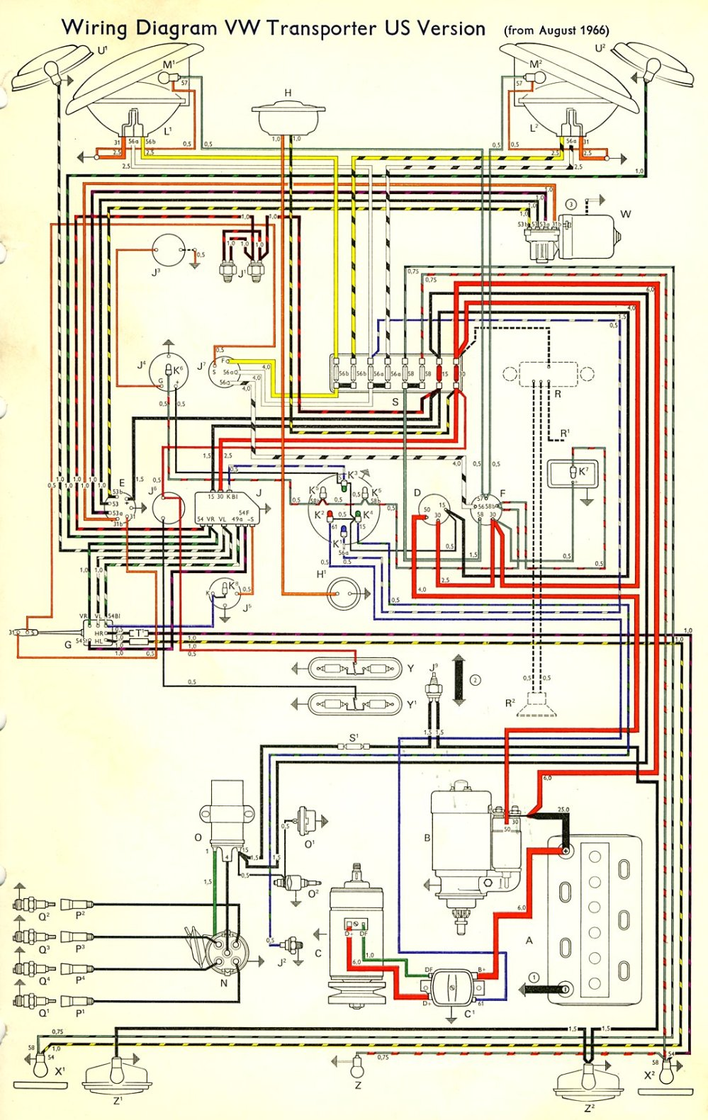 medium resolution of thesamba com type 2 wiring diagrams1970 vw bus wiring diagram 3