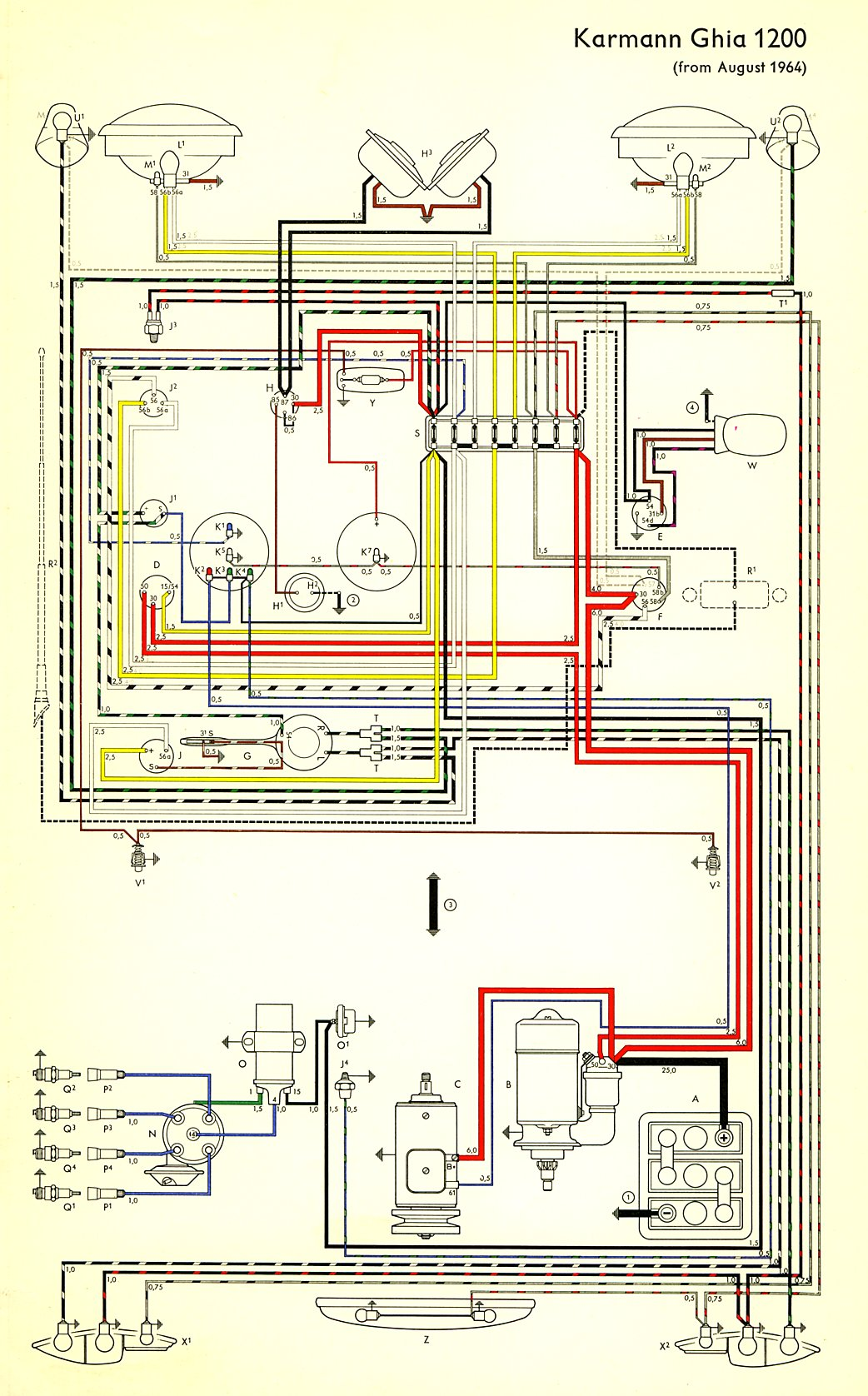 hight resolution of thesamba com karmann ghia wiring diagrams ghia coil wiring