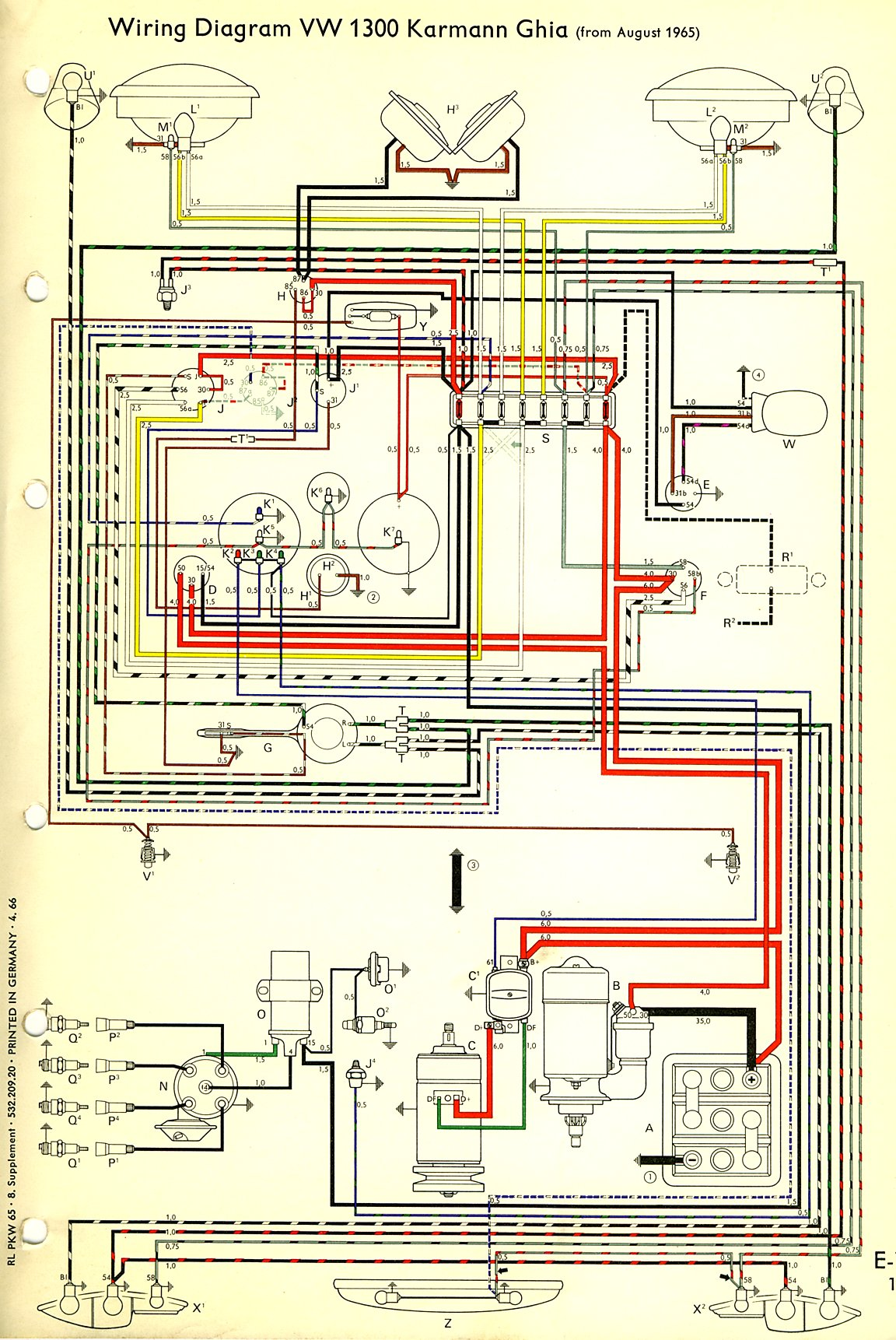 vw wiring diagram alternator human liver cell labeled 1974 engine volkswagen beetle cooling system