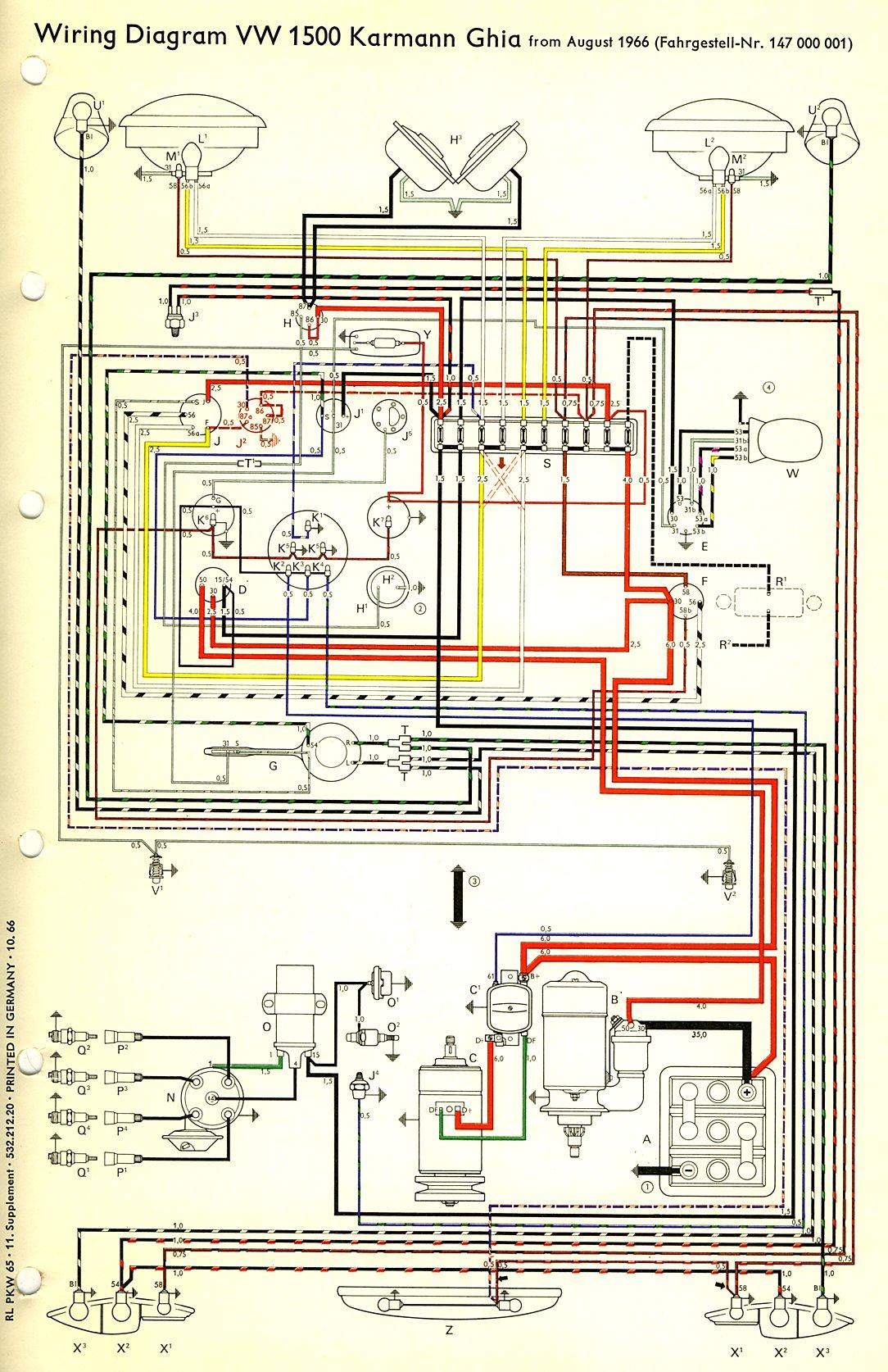 67 vw wiring diagram