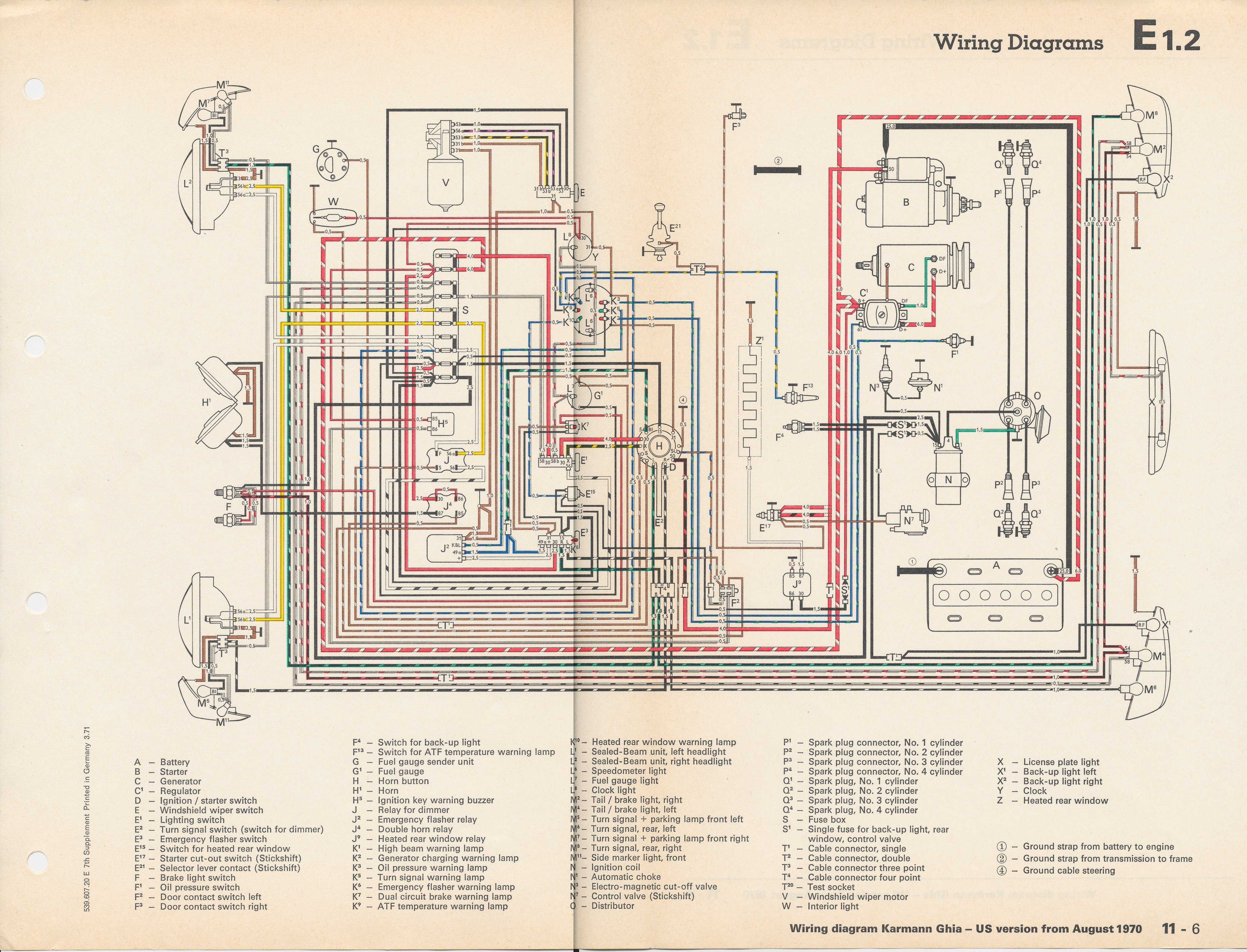 1971 vw beetle ignition switch wiring diagram bridge 2 subwoofers karmann ghia get free image about