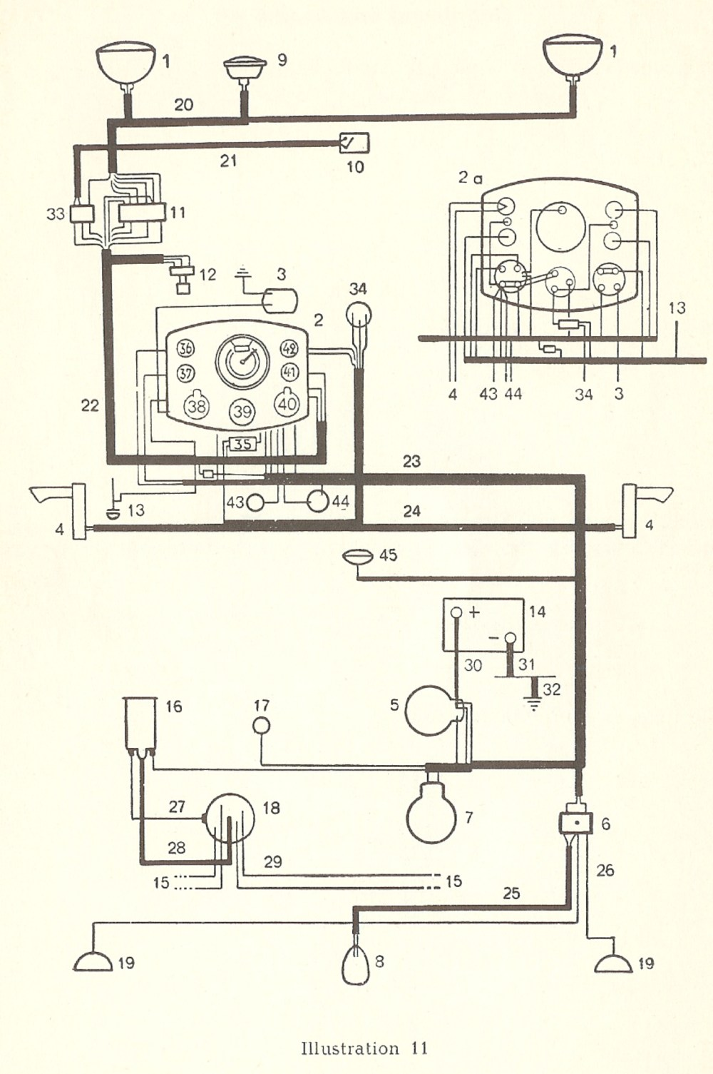 medium resolution of thesamba com type 1 wiring diagrams 1949 ford 1952 ford directional wiring