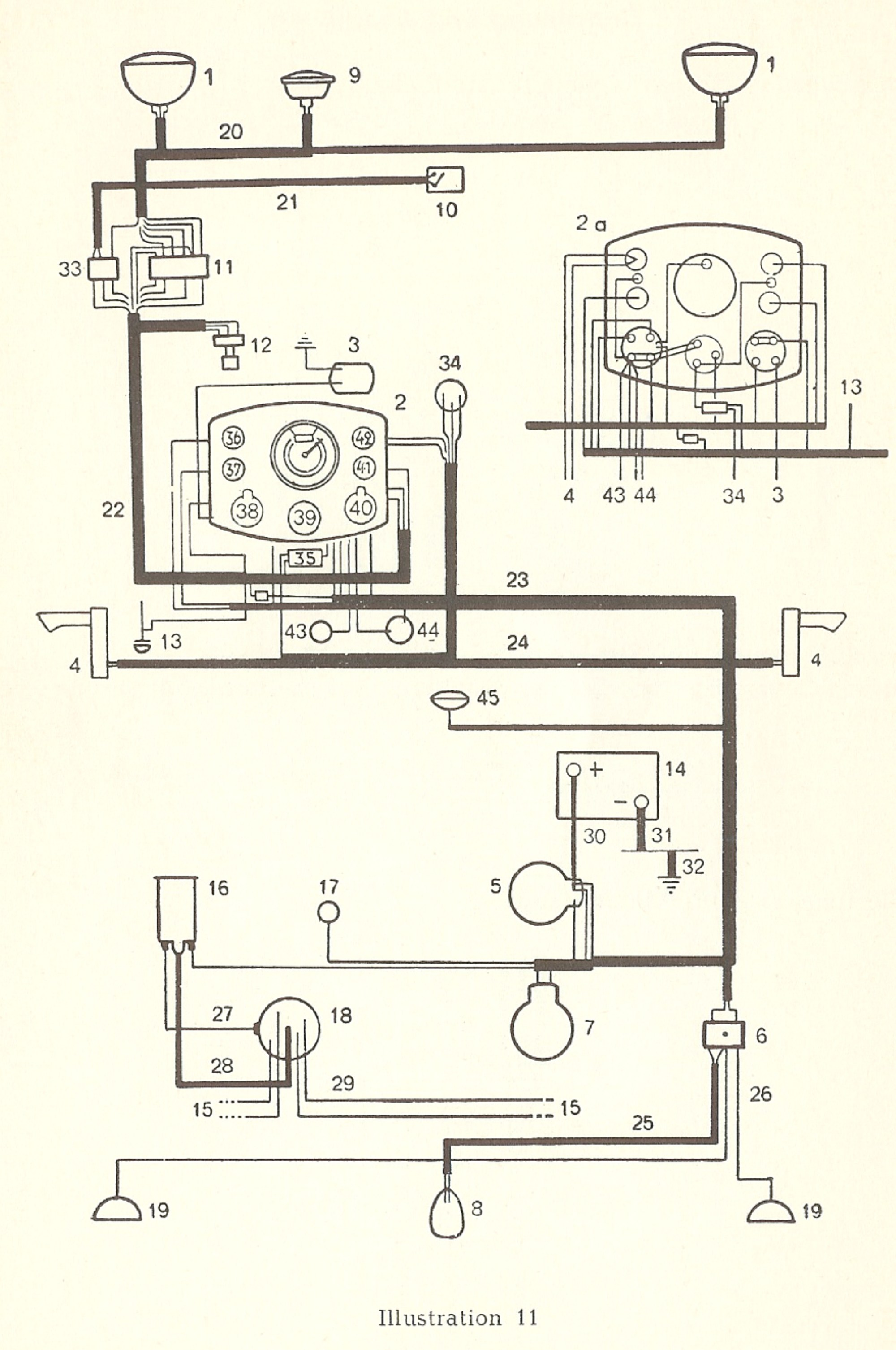 hight resolution of thesamba com type 1 wiring diagrams 1949 ford 1952 ford directional wiring