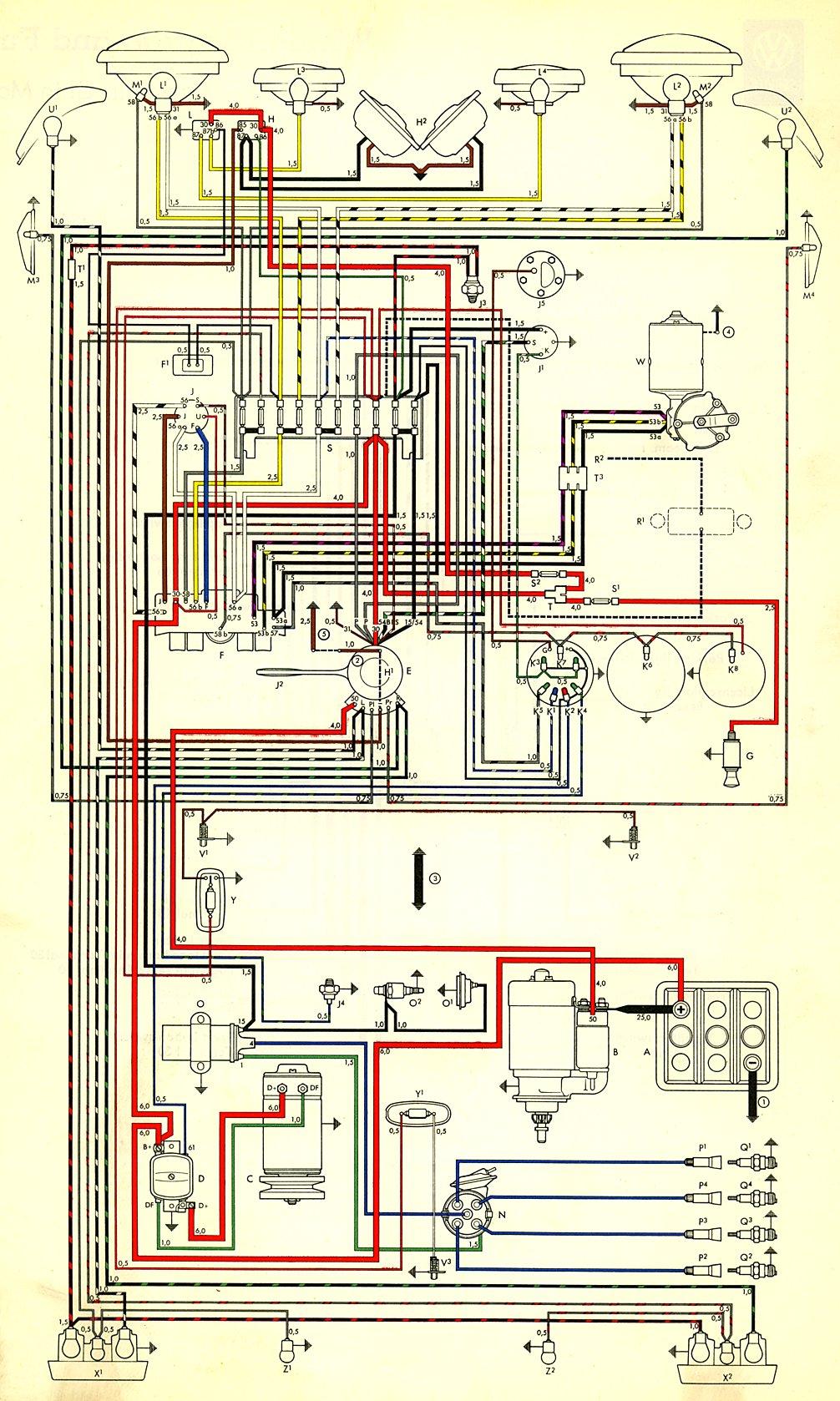 g body ac wiring diagram 2000 ford mustang gt radio thesamba com type 3 diagrams
