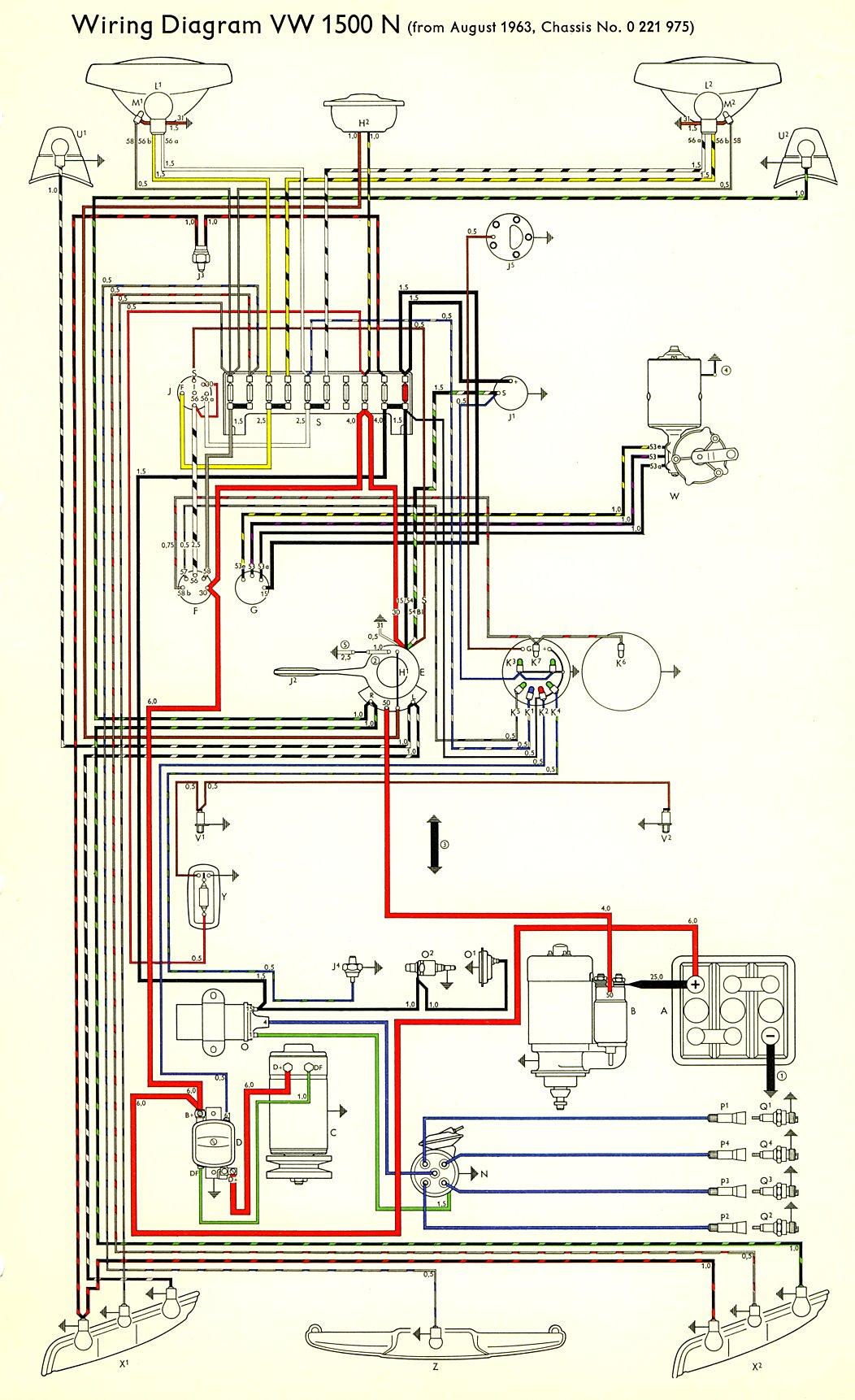 67 vw beetle wiring diagram murray riding mower thesamba type 3 diagrams