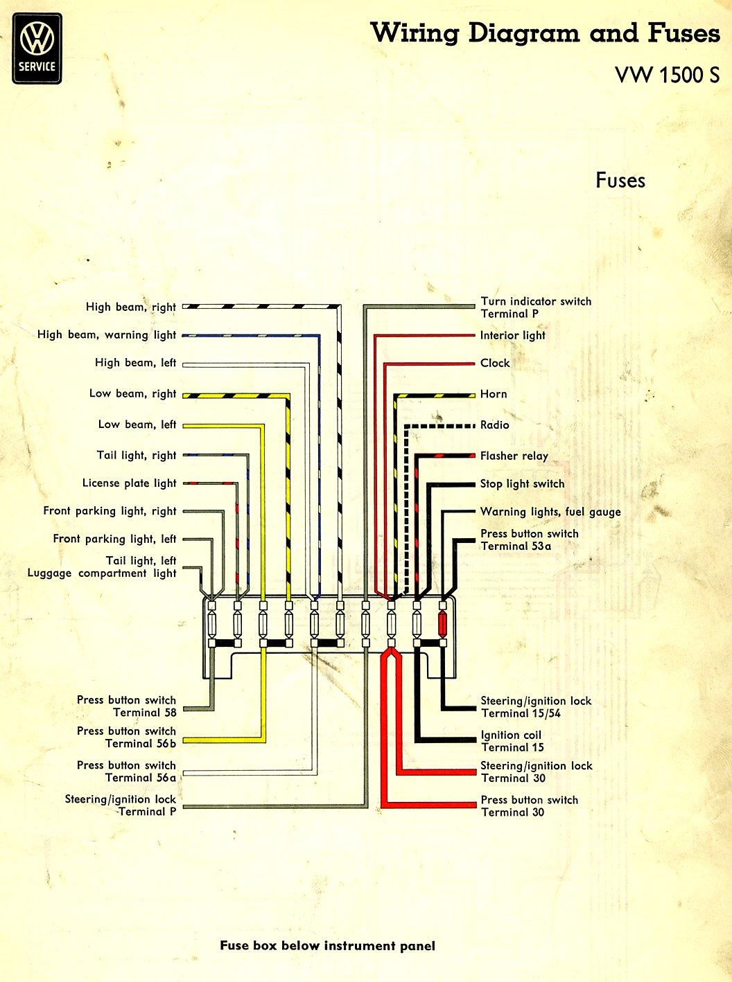 1968 Vw Bug Wiring Diagram Wiring Harness