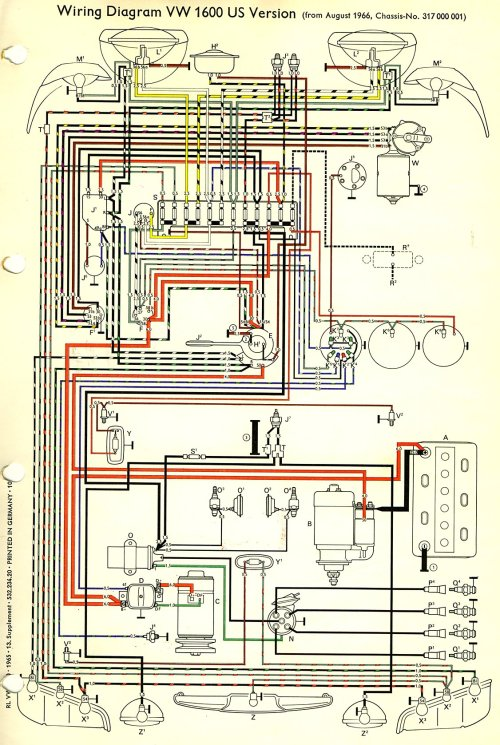 small resolution of thesamba com type 3 wiring diagrams wiring diagram vw type 3 notchback 1965