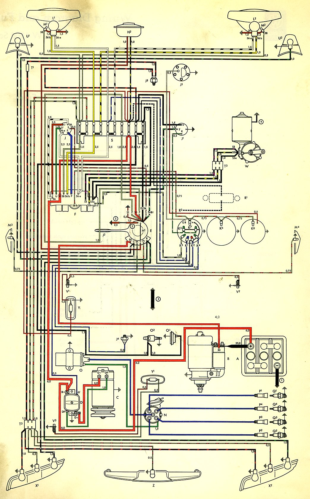 1970 vw type 2 wiring diagram tesla powerwall ac harness