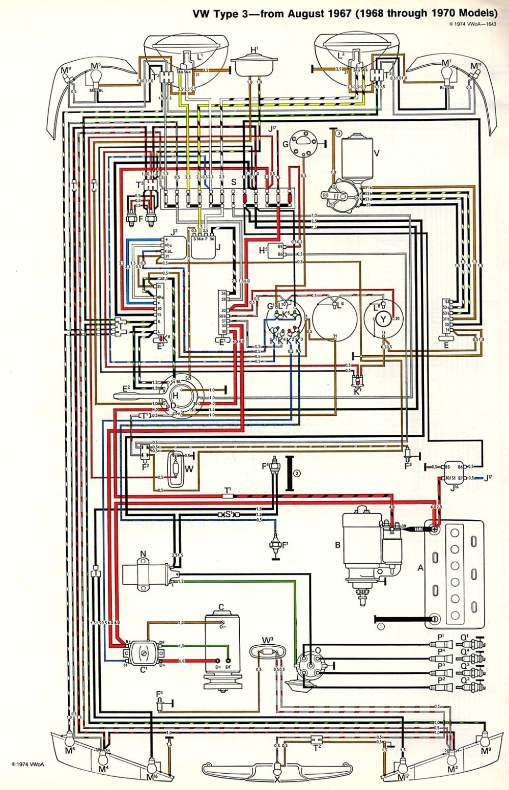medium resolution of  type3 6870 1971 karmann ghia wiring diagram karmann ghia wiring harness 1972 vw bus wiring harness at