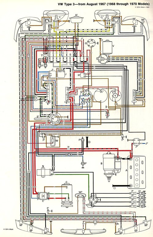 small resolution of  type3 6870 1971 karmann ghia wiring diagram karmann ghia wiring harness 1972 vw bus wiring harness at