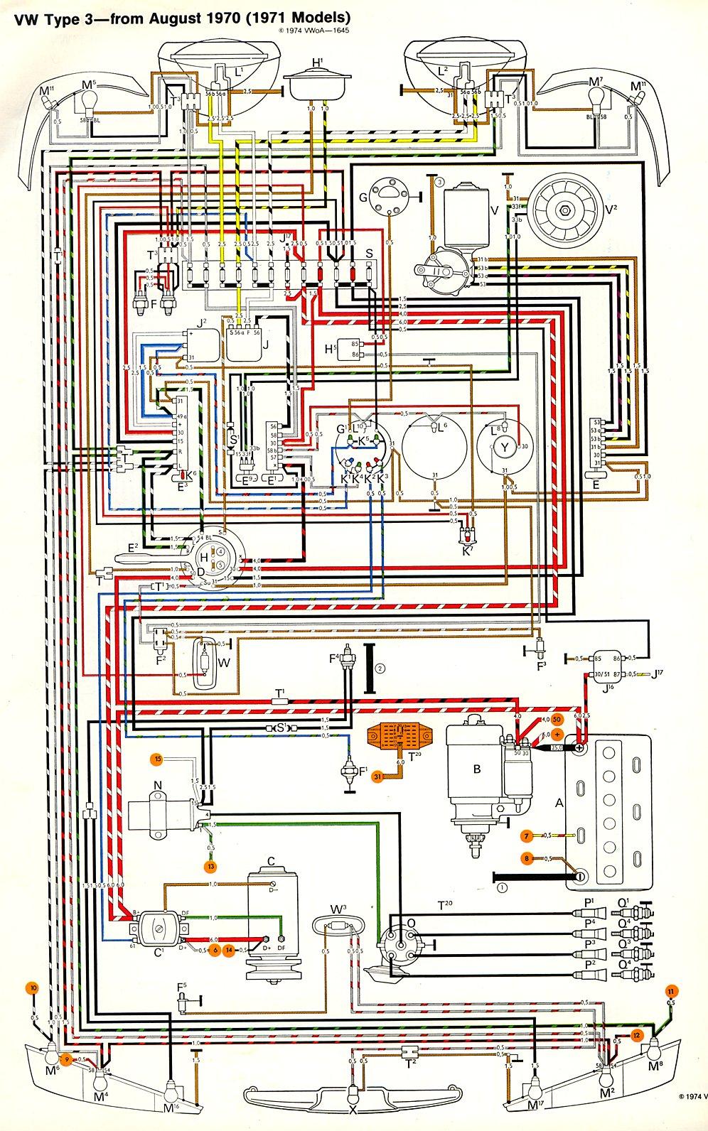1971 Dodge Wiring Diagram Thesamba Com Type 3 Wiring Diagrams