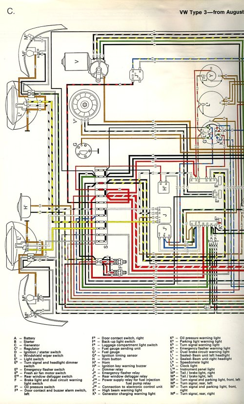 small resolution of thesamba com type 3 wiring diagrams 1968 vw dash wiring vw type 3 wiring diagram