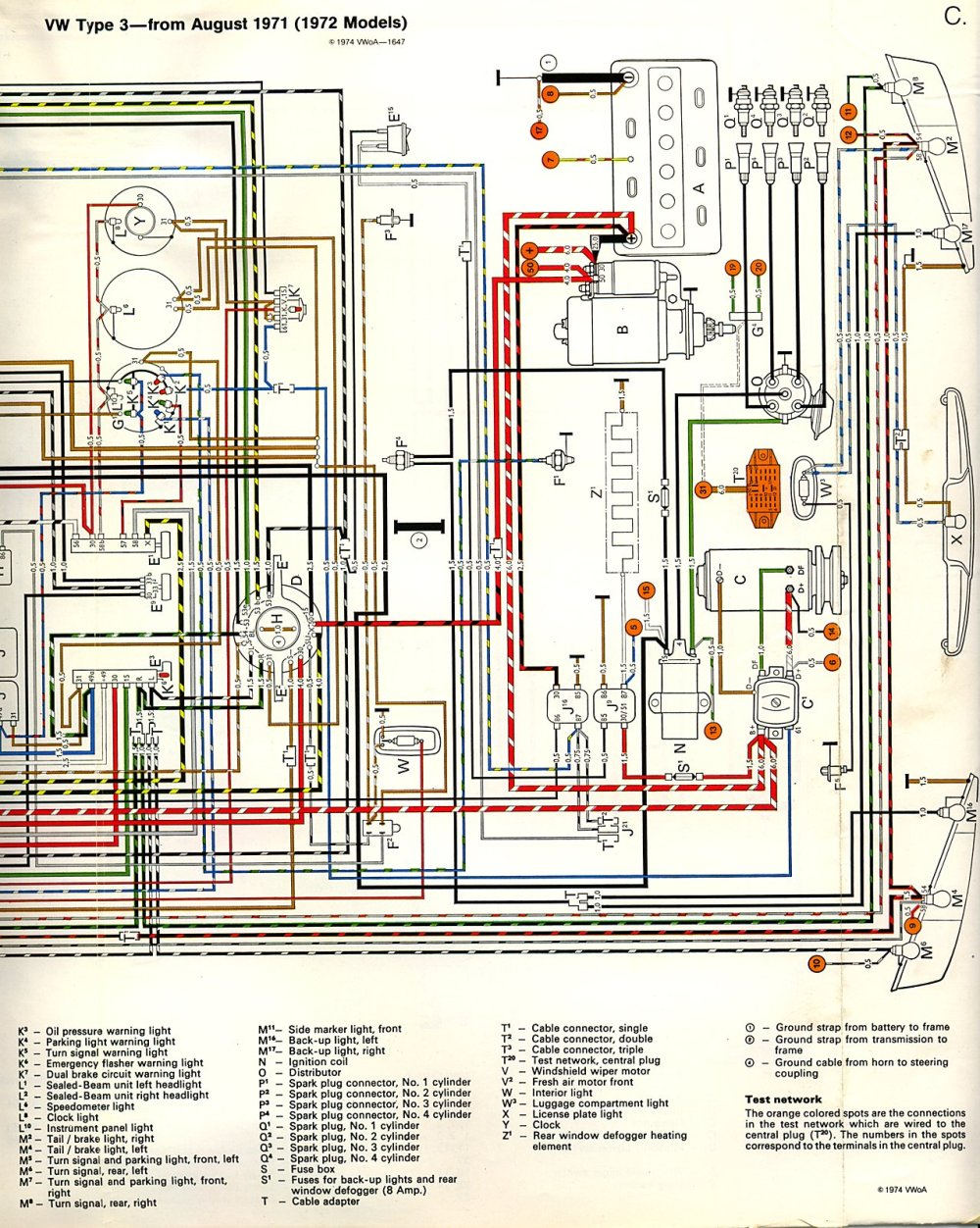 medium resolution of thesamba com type 3 wiring diagrams 1973 vw super beetle wiring diagram type 3 wiring diagram