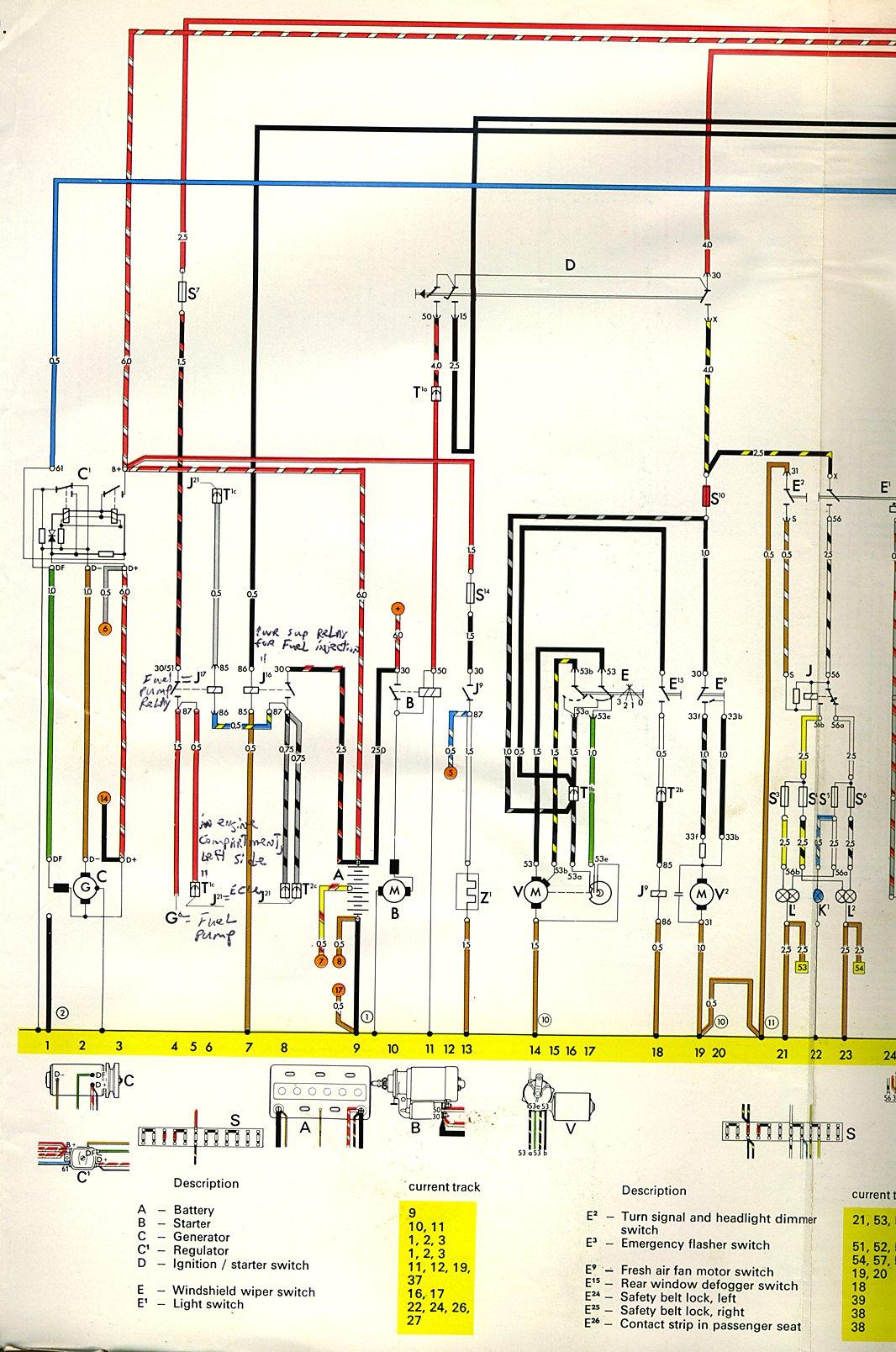 1970 vw type 2 wiring diagram kitchenaid artisan mixer parts thesamba 3 diagrams