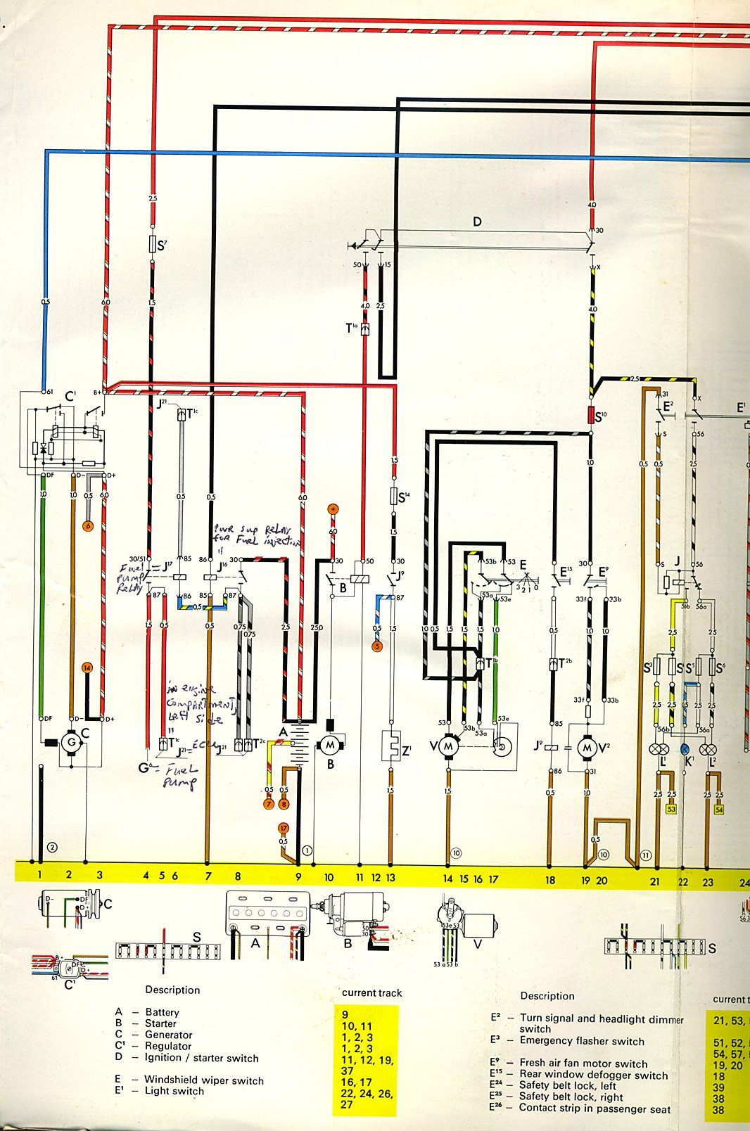 hight resolution of thesamba com type 3 wiring diagrams 1968 vw wiring schematic vw squareback fuse wiring
