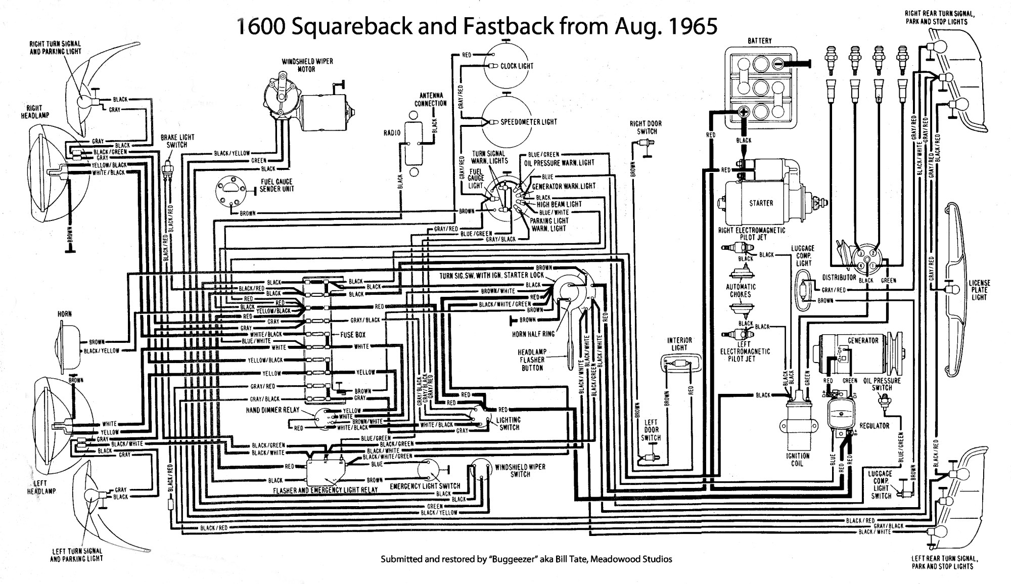 hight resolution of thesamba com type 3 wiring diagrams 73 vw squareback wiring diagram
