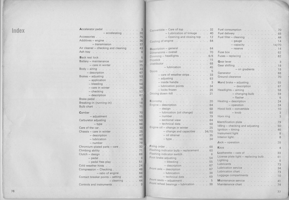 TheSamba.com :: 1966 August 1965 Bug Owners Manual