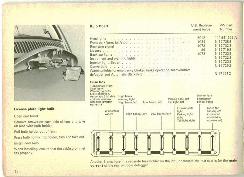 Beetle Fuse Box Diagram Thesamba Com Beetle Late Model Super 1968 Up View