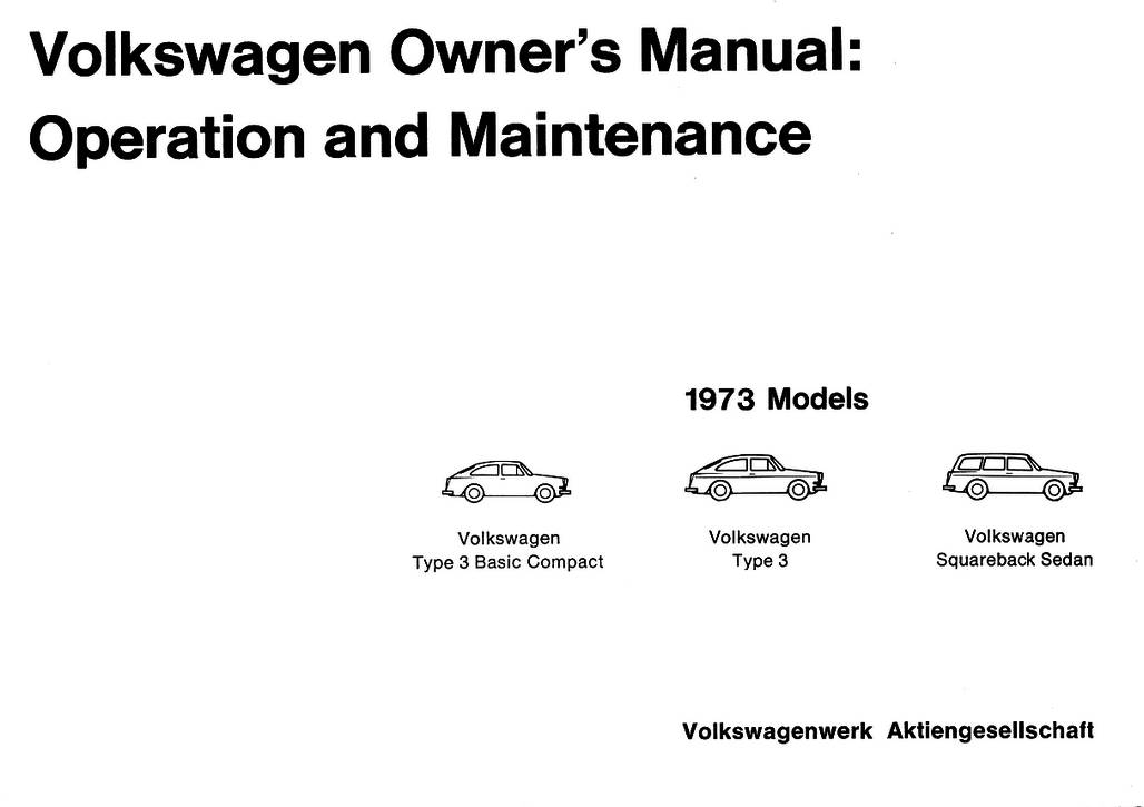 TheSamba.com :: 1973 VW Type 3 Owner's Manual