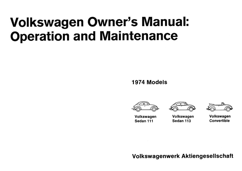 TheSamba.com :: 1974 Beetle Owner's Manual
