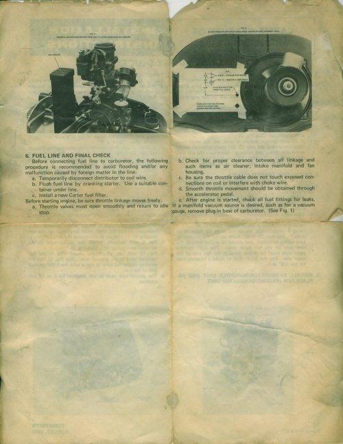 small resolution of carter carburetor model wgd 6123 dune buggy deuce