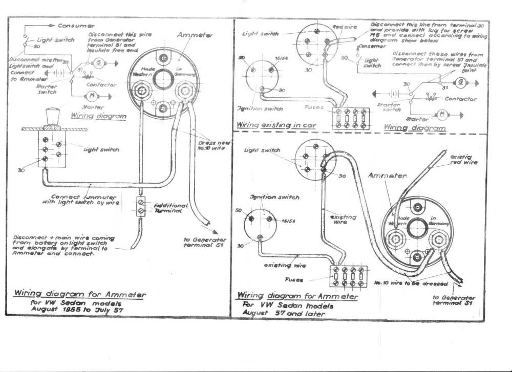 medium resolution of vw wiring amp meter wiring diagram for you vdo amp gauge wiring