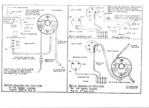 small resolution of vw wiring amp meter wiring diagram for you vdo amp gauge wiring