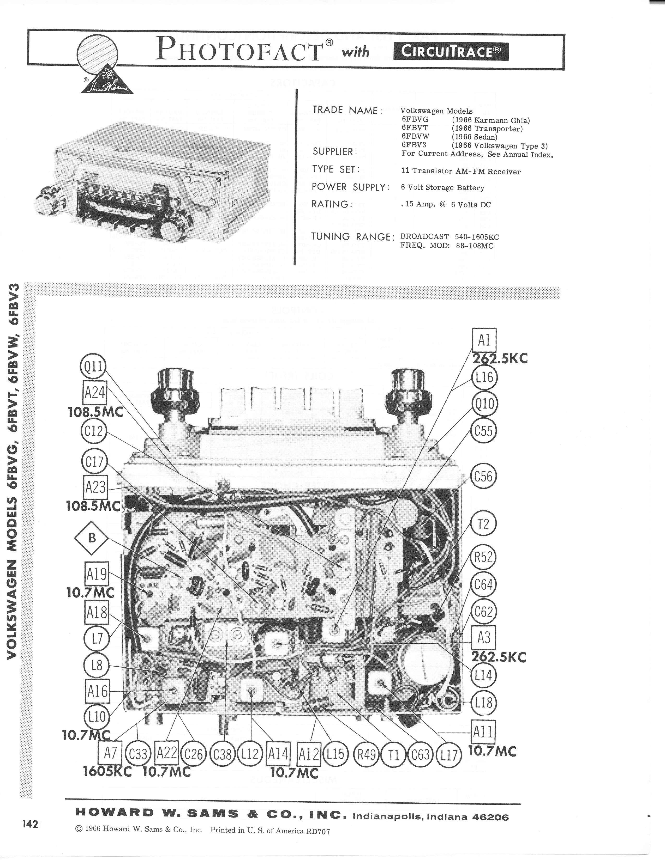 TheSamba.com :: 1966 Motorola Sapphire IV Photofact Repair
