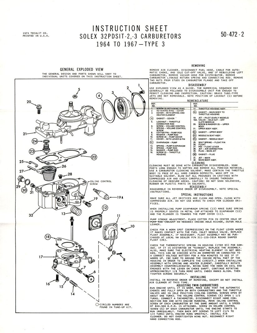 medium resolution of solex 32 pdsit 2 3 carburetor