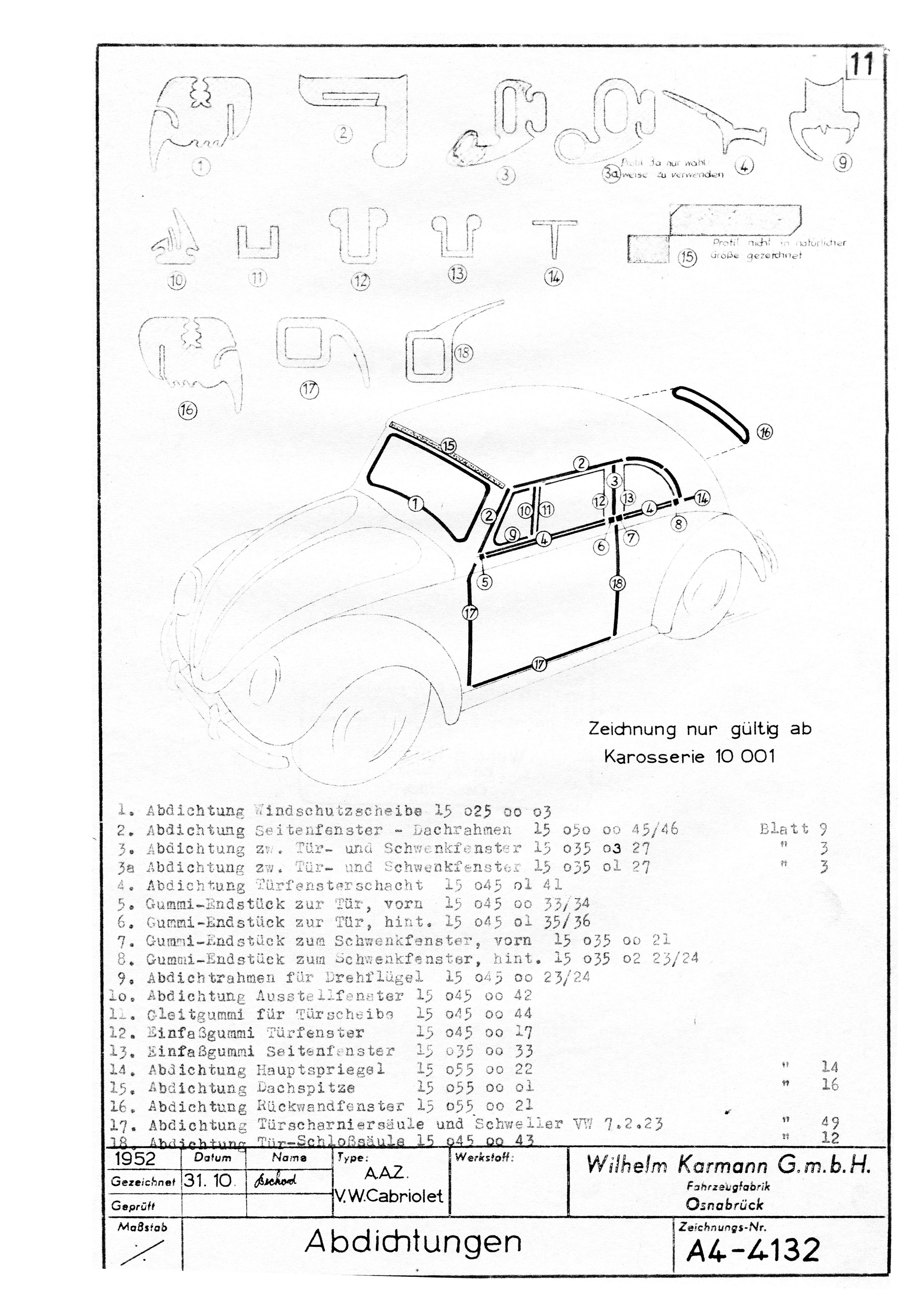 TheSamba.com :: Karmann Split-Window Beetle Convertible