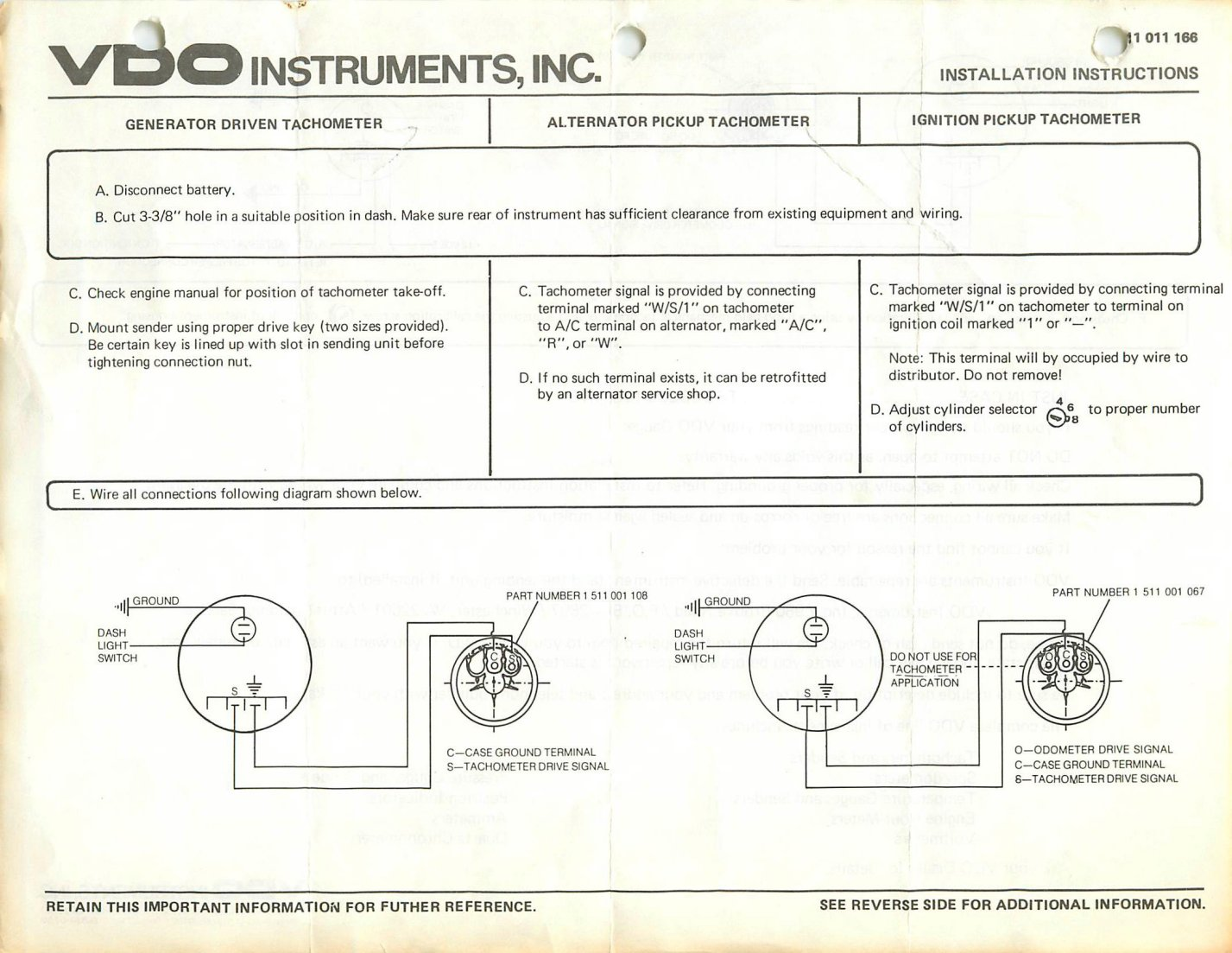 hight resolution of vdo tachometer wiring wiring diagram operations vdo tach wiring 4 cylinder