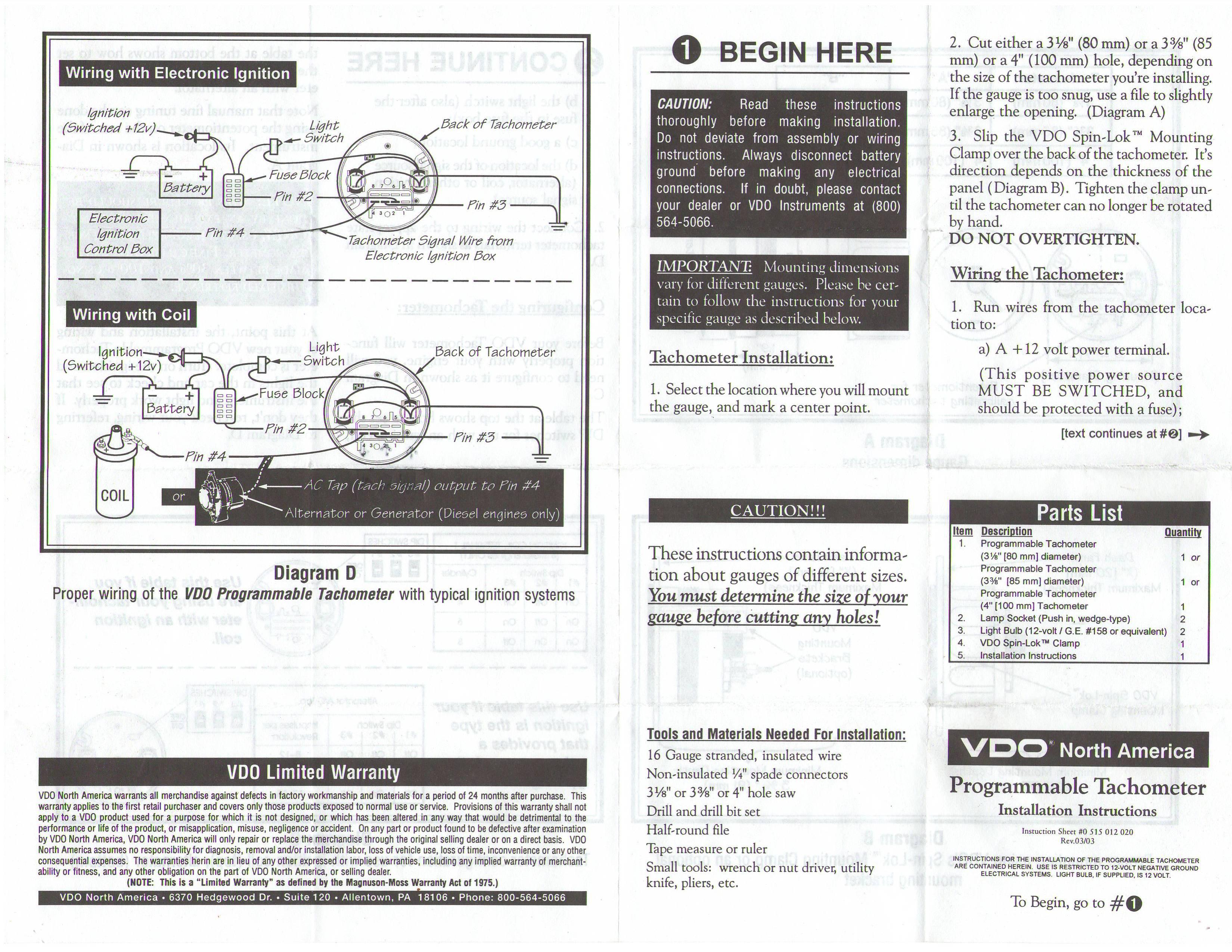 vdo marine oil pressure gauge wiring diagram 4 cylinder firing order vw tach get free image about