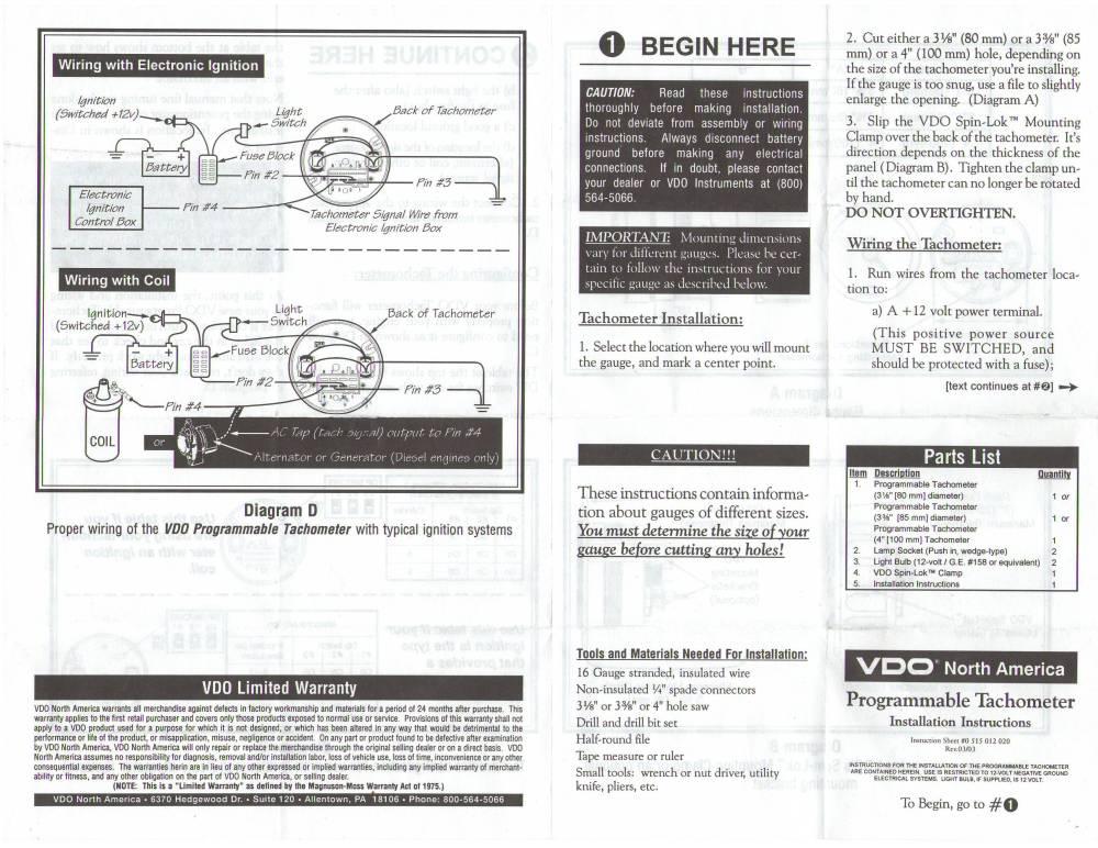 medium resolution of wrg 3124 vdo tachometer with hour meter wiring diagram vdo tach gen wiring diagram