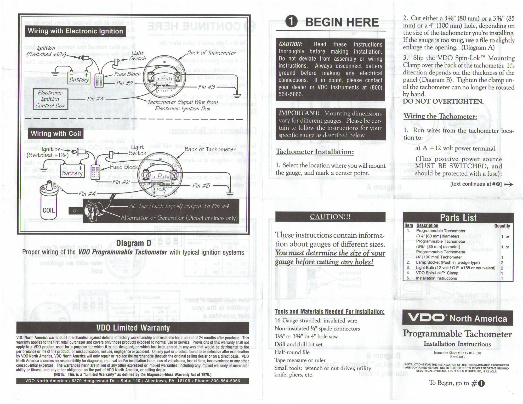 hight resolution of vdo programmable tachometer 1 thesamba com vdo programmable tachometer instructions vdo tachometer wiring diagram at cita vdo tach wiring electric
