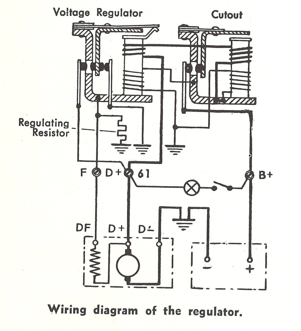 medium resolution of view topic problem with an alternator with external volt reg wiring late model super 1968up view topic voltage regulator wiring