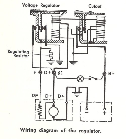 small resolution of view topic problem with an alternator with external volt reg wiring late model super 1968up view topic voltage regulator wiring
