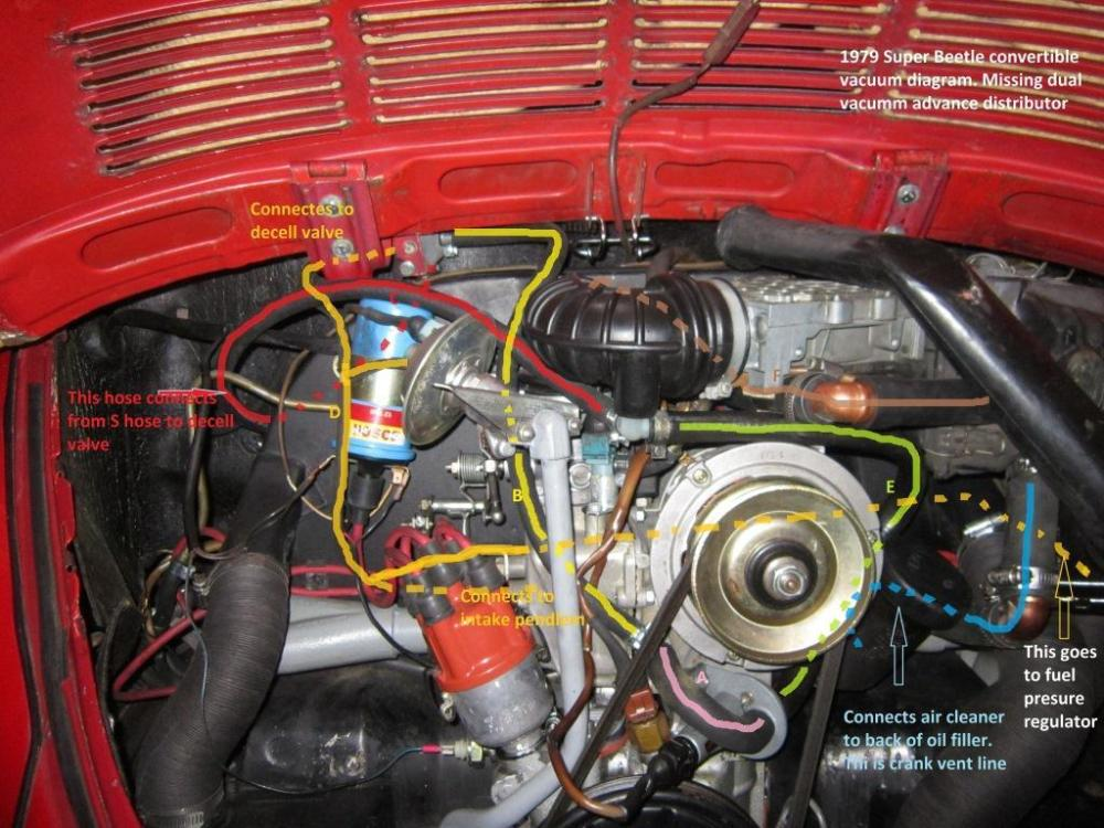 medium resolution of 1974 vw beetle vacuum line diagram on 72 vw beetle engine diagram 74 vw beetle ignition coil wiring diagram