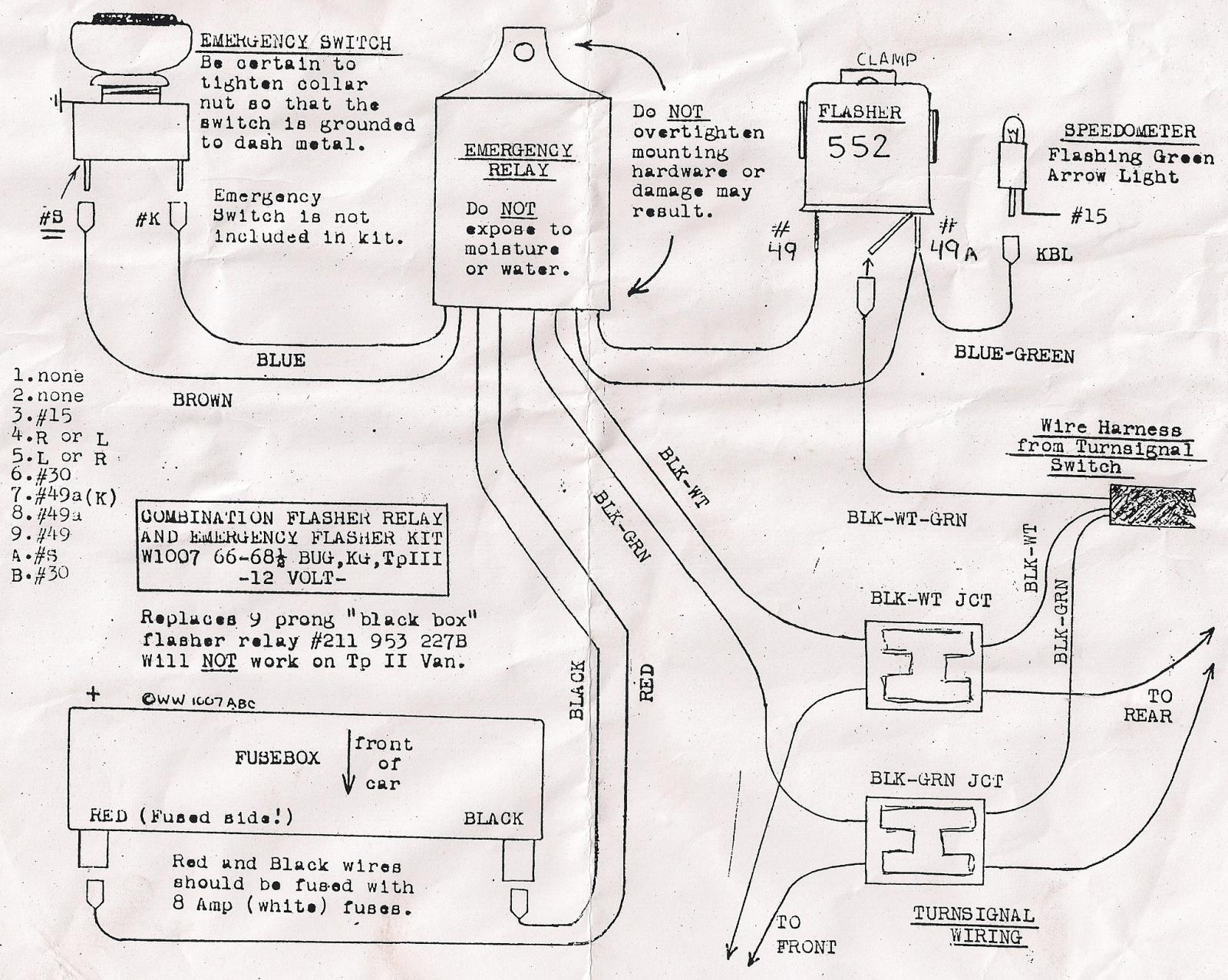 flasher relay wiring diagram house electrical diagrams thesamba beetle 1958 1967 view topic 66